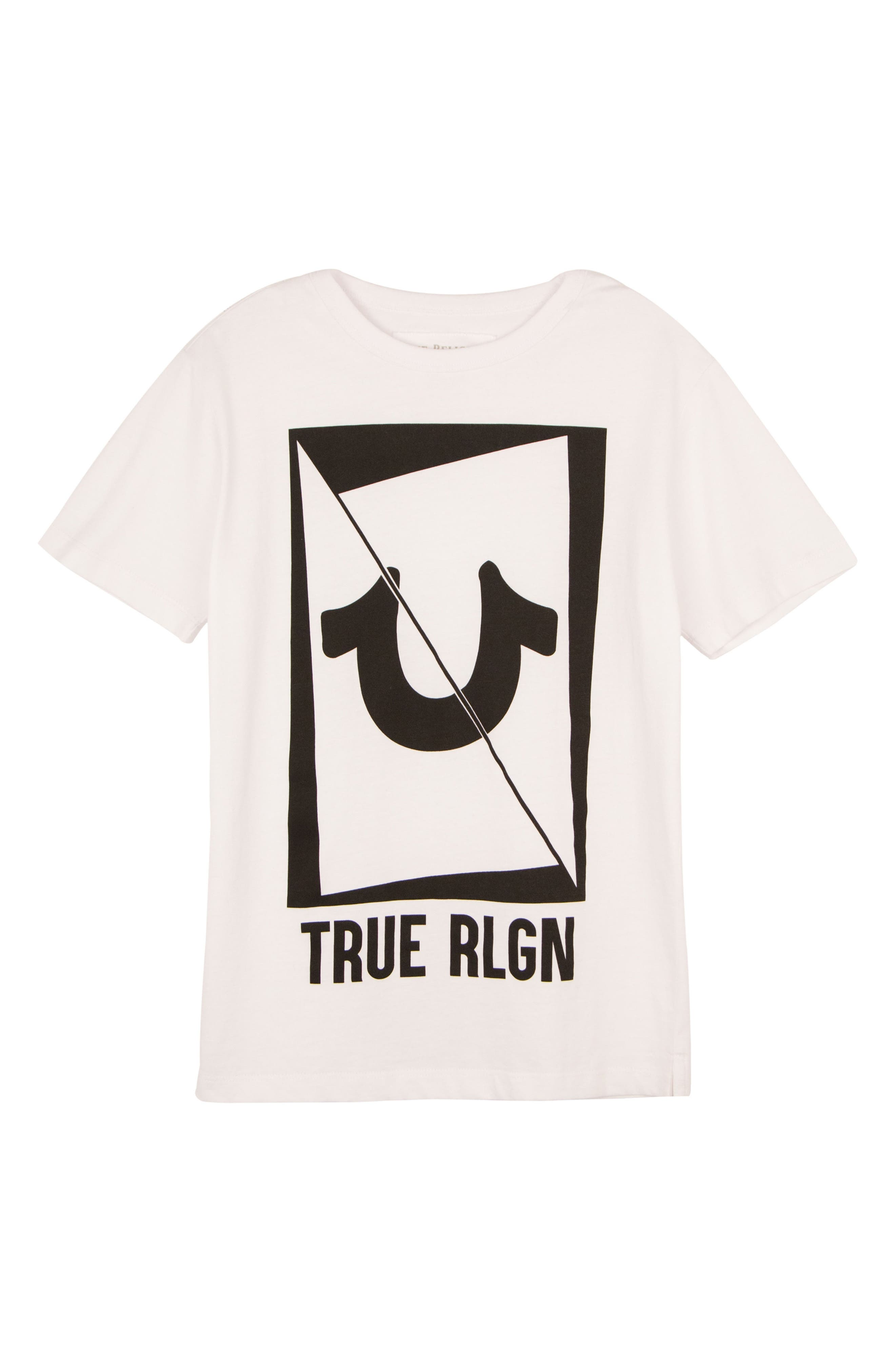 Logo Graphic T-Shirt,                             Main thumbnail 1, color,                             WHITE
