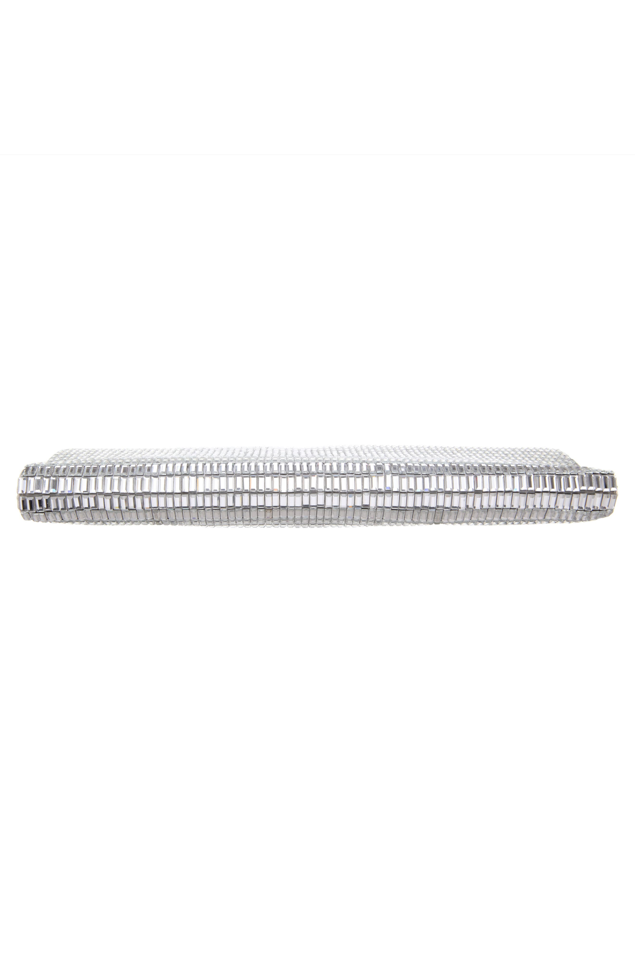 Crystal Foldover Clutch,                             Alternate thumbnail 5, color,                             SILVER
