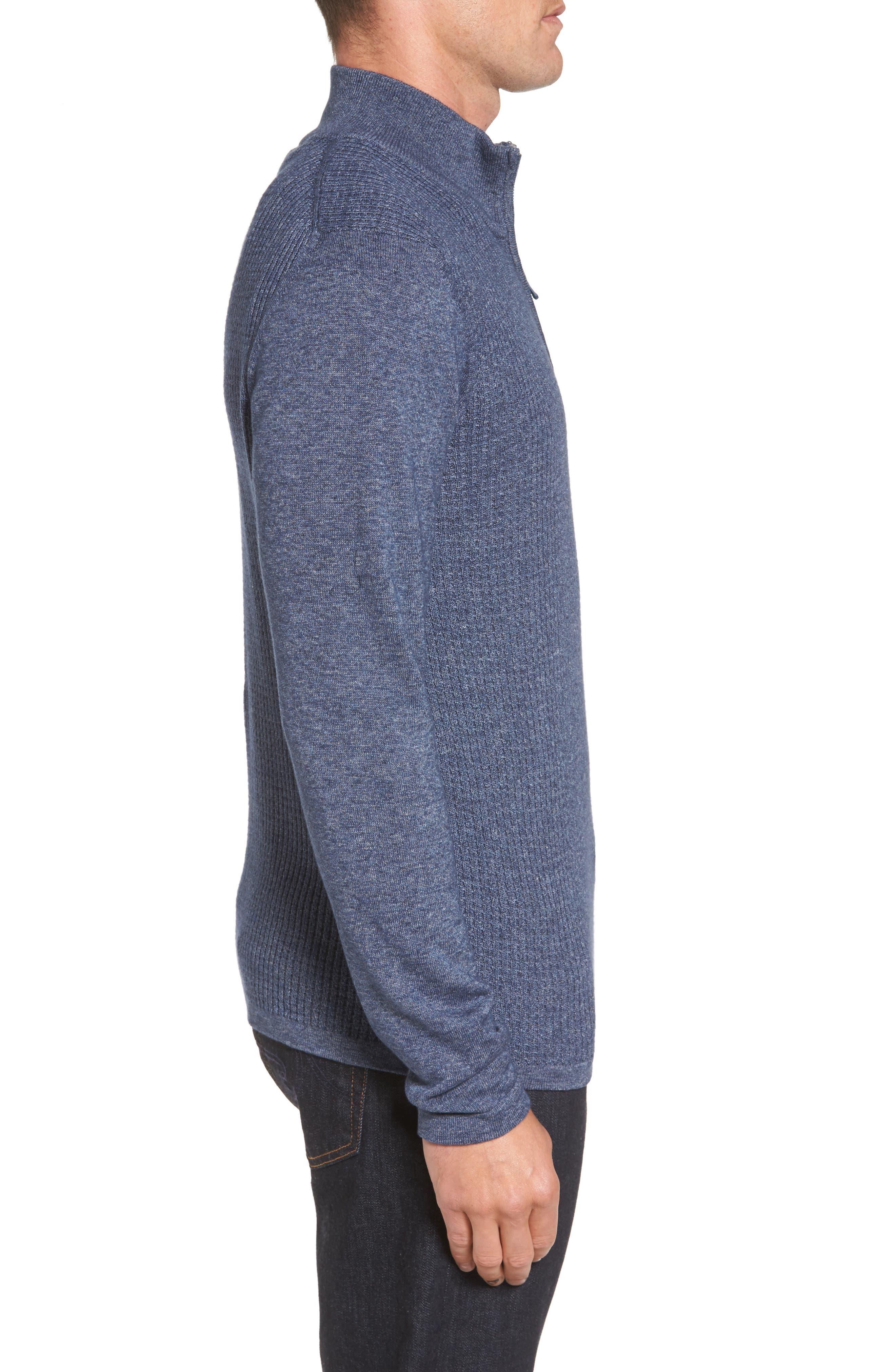 Higgins Quarter Zip Sweater,                             Alternate thumbnail 9, color,