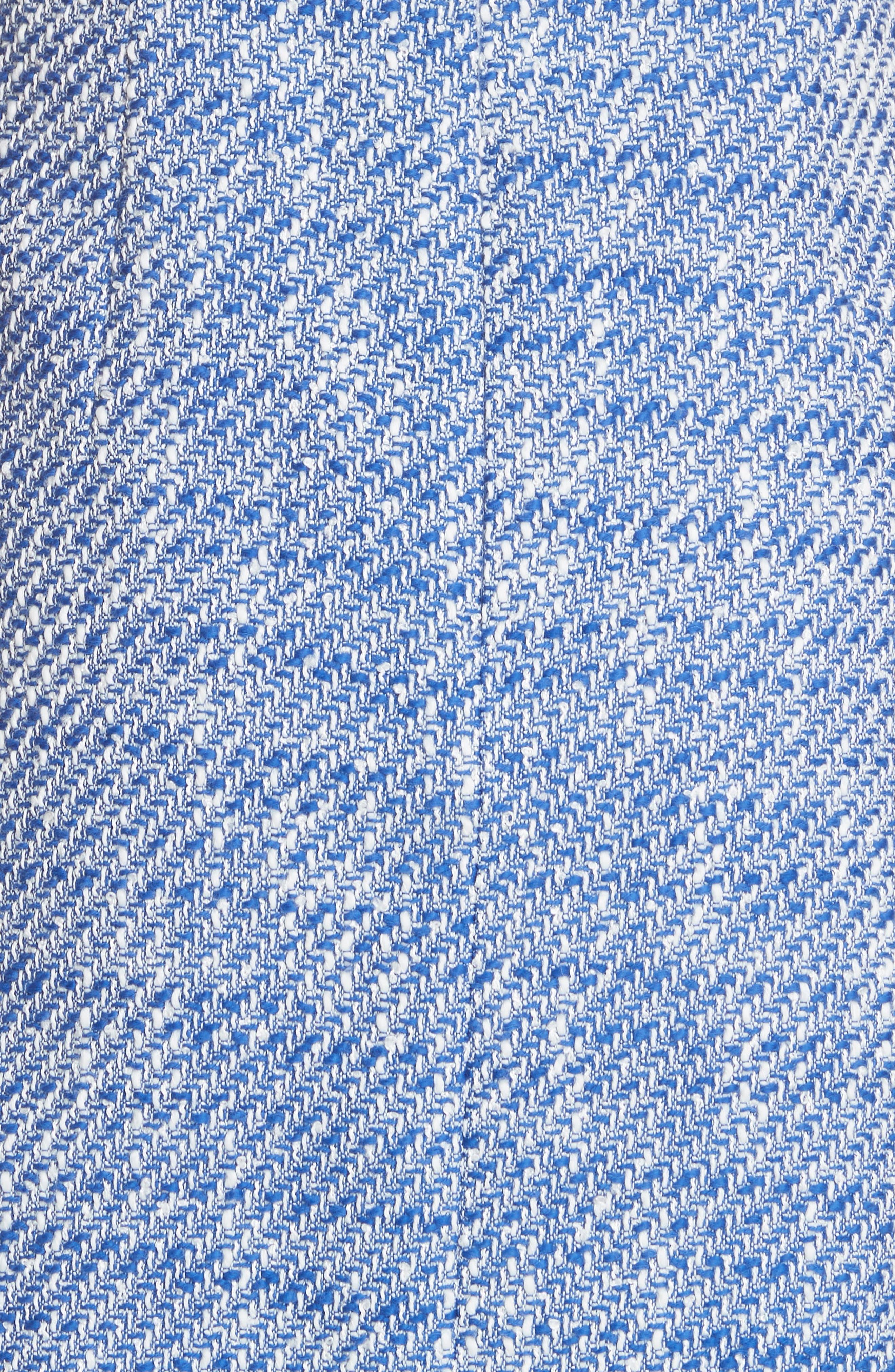 cold shoulder cotton blend tweed dress,                             Alternate thumbnail 5, color,