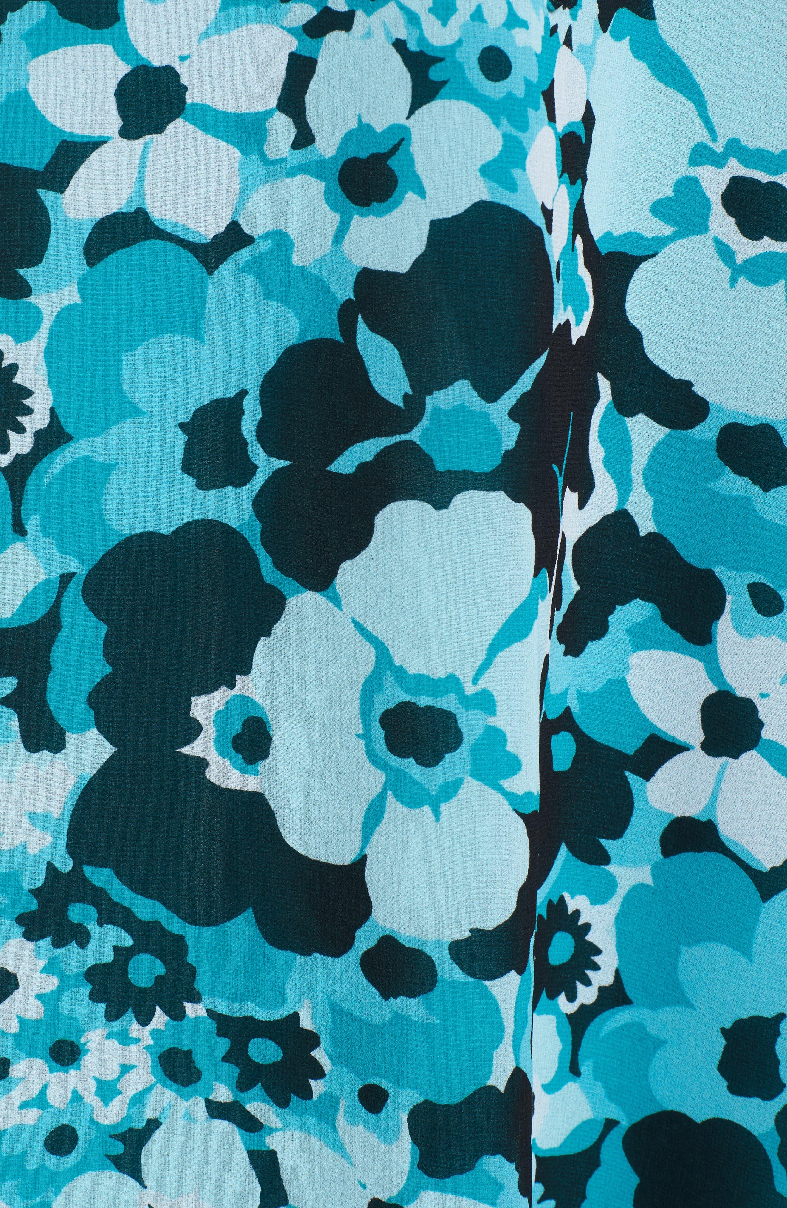Spring Floral Maxi Dress,                             Alternate thumbnail 5, color,                             494