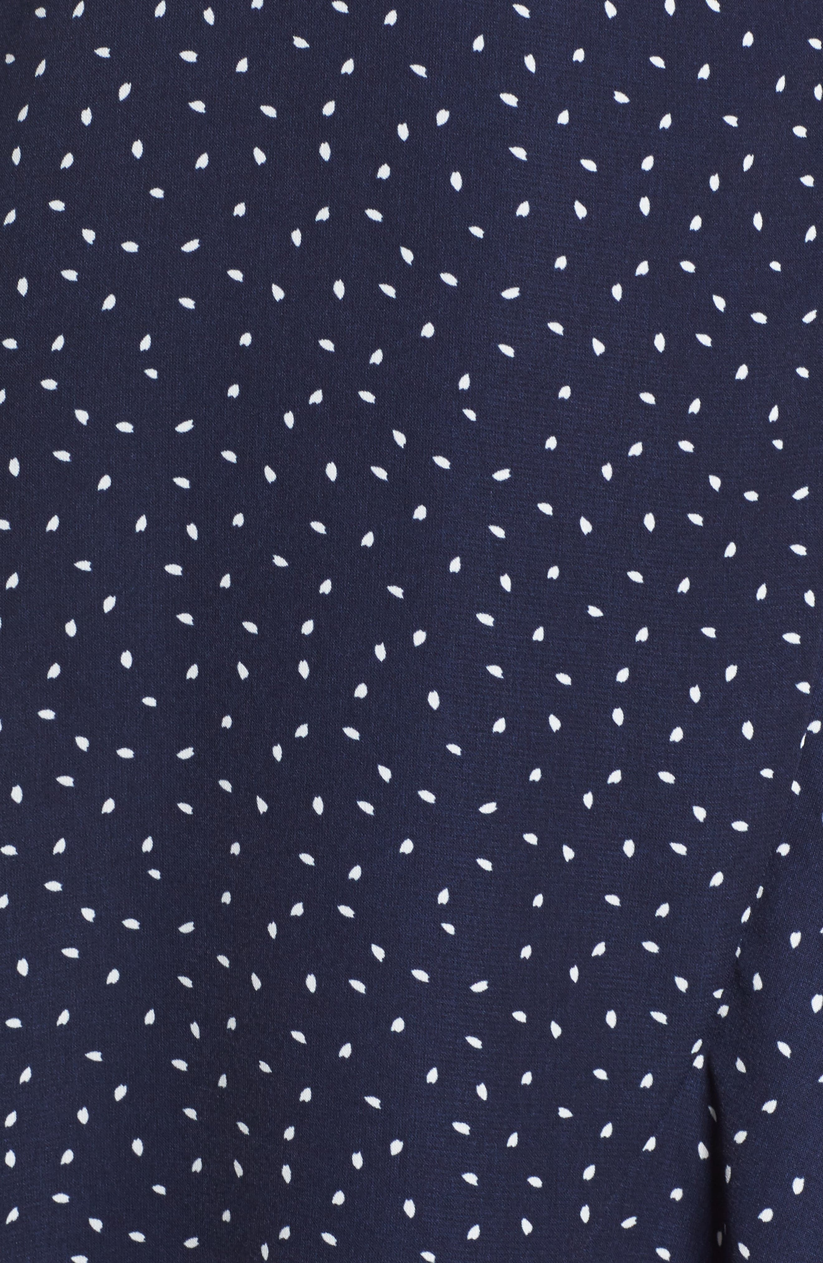 Print Wrap Dress,                             Alternate thumbnail 5, color,