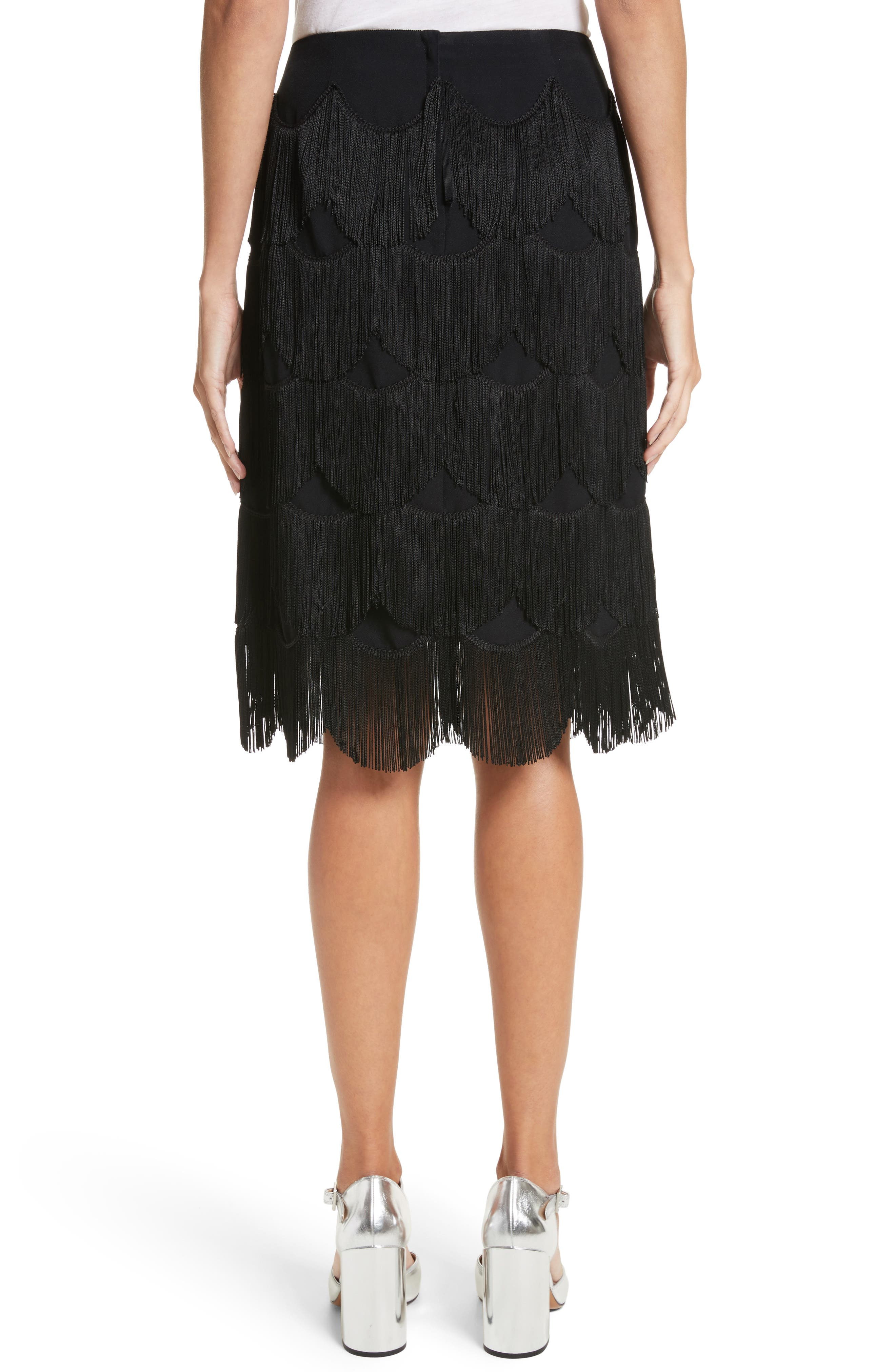 Fringe Skirt,                             Alternate thumbnail 2, color,                             001