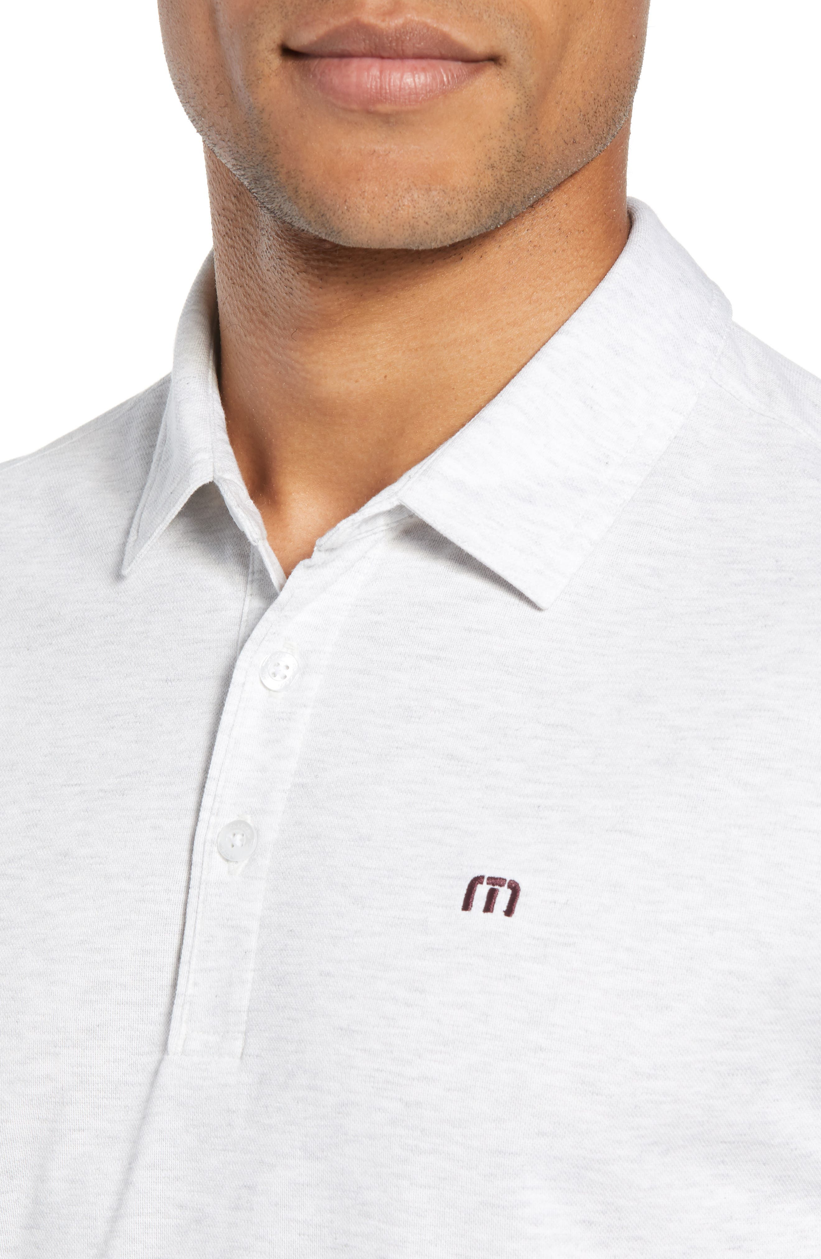 Classy Jersey Polo,                             Alternate thumbnail 4, color,                             HEATHER WHITE