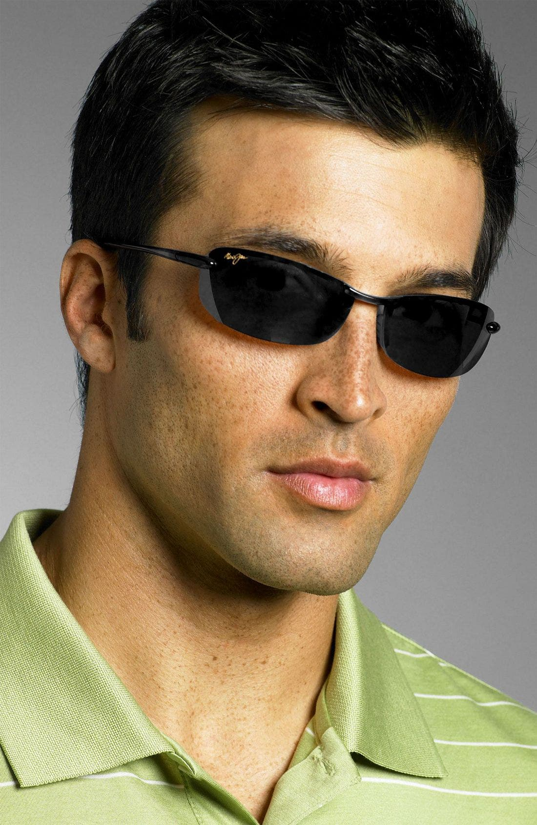 'Makaha - PolarizedPlus<sup>®</sup>2' 63mm Sunglasses,                             Alternate thumbnail 2, color,                             BLK