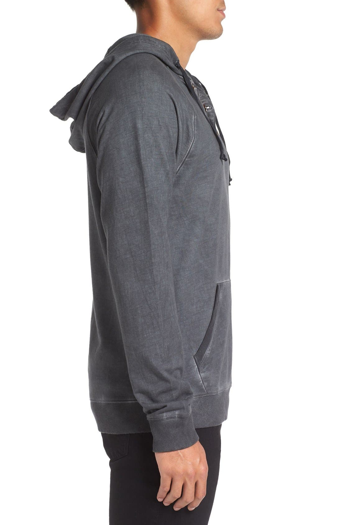 Faded Henley Hoodie,                             Alternate thumbnail 7, color,