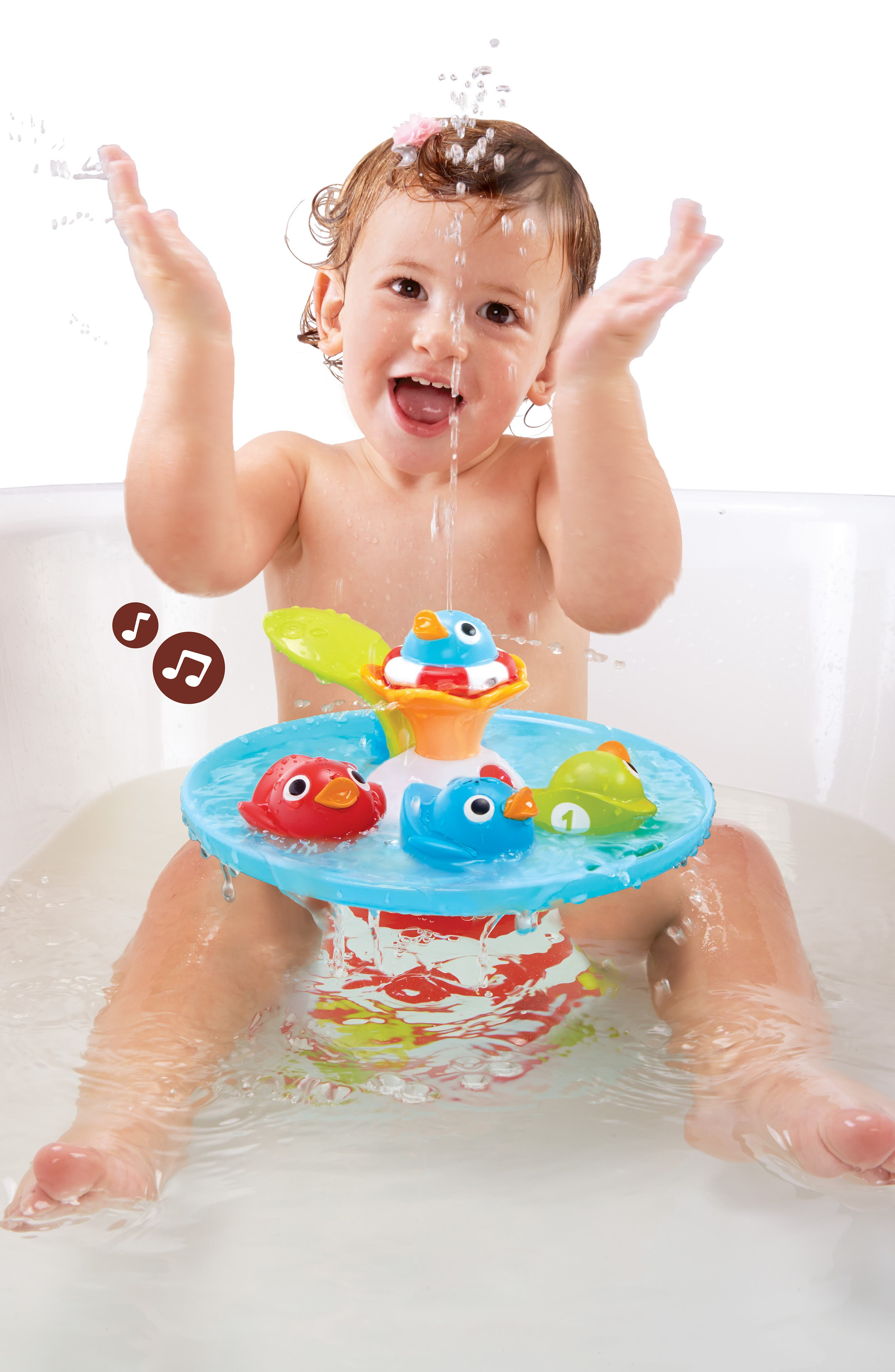 Musical Duck Race Bath Toy,                             Alternate thumbnail 10, color,                             RED