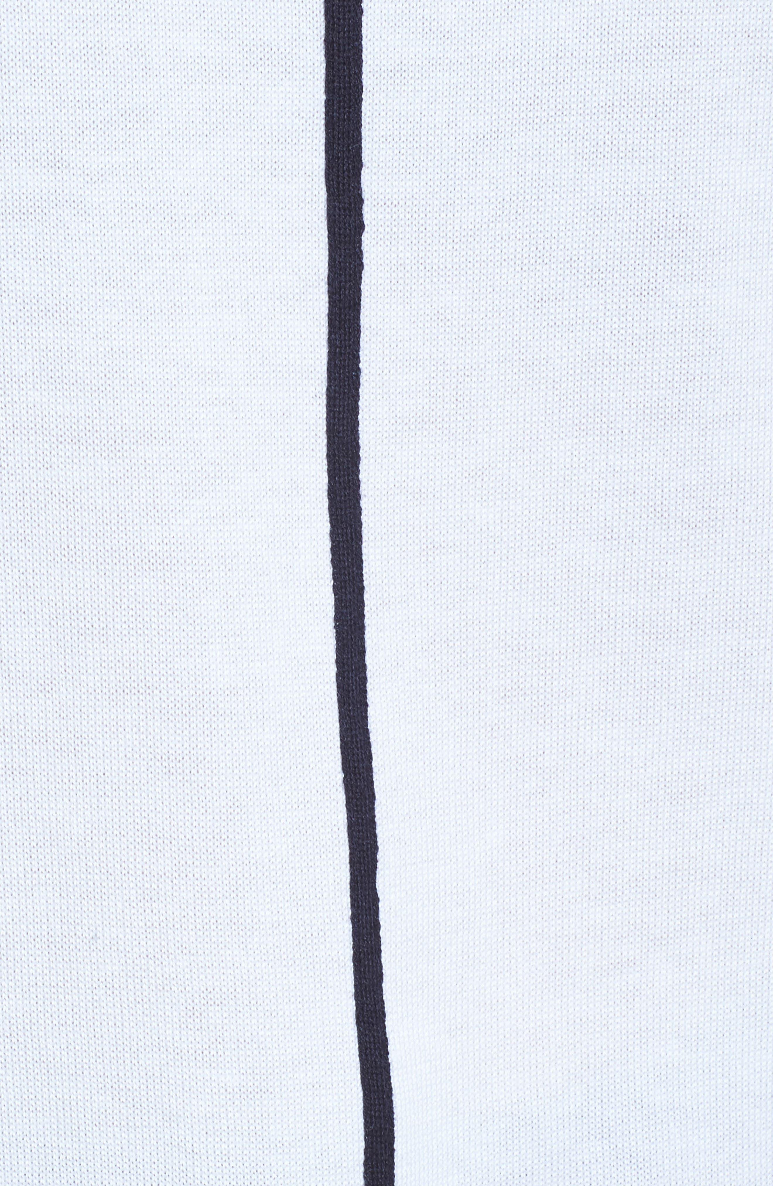 Contrast Trim Knit Tank,                             Alternate thumbnail 5, color,                             110