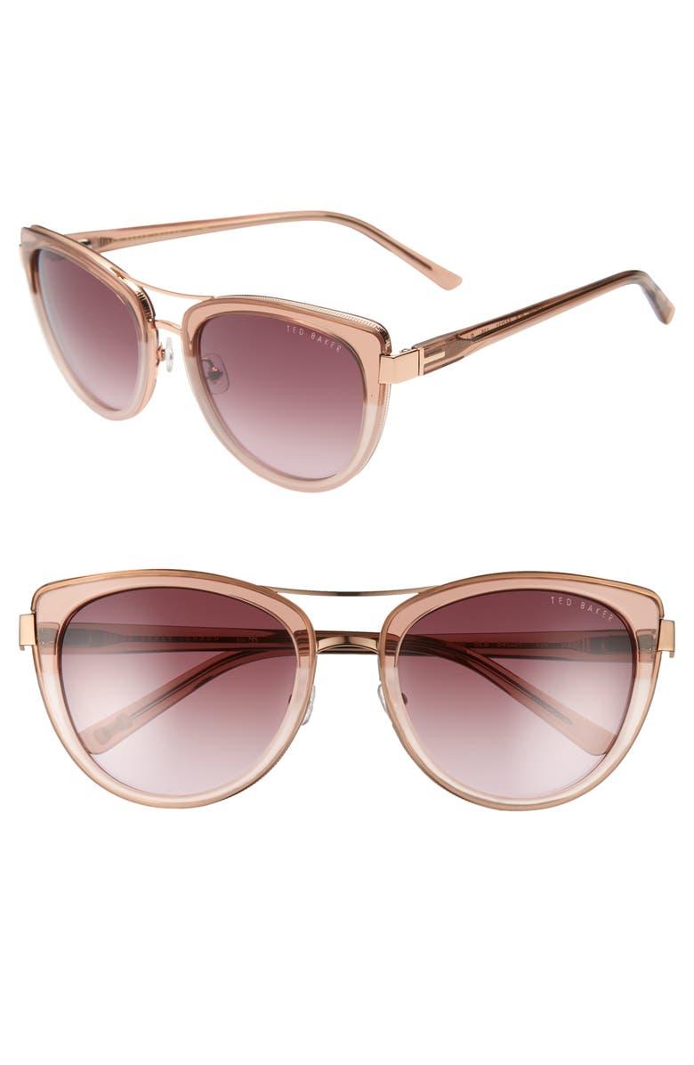 b5459aabb2 Ted Baker London 54mm Cat Eye Sunglasses