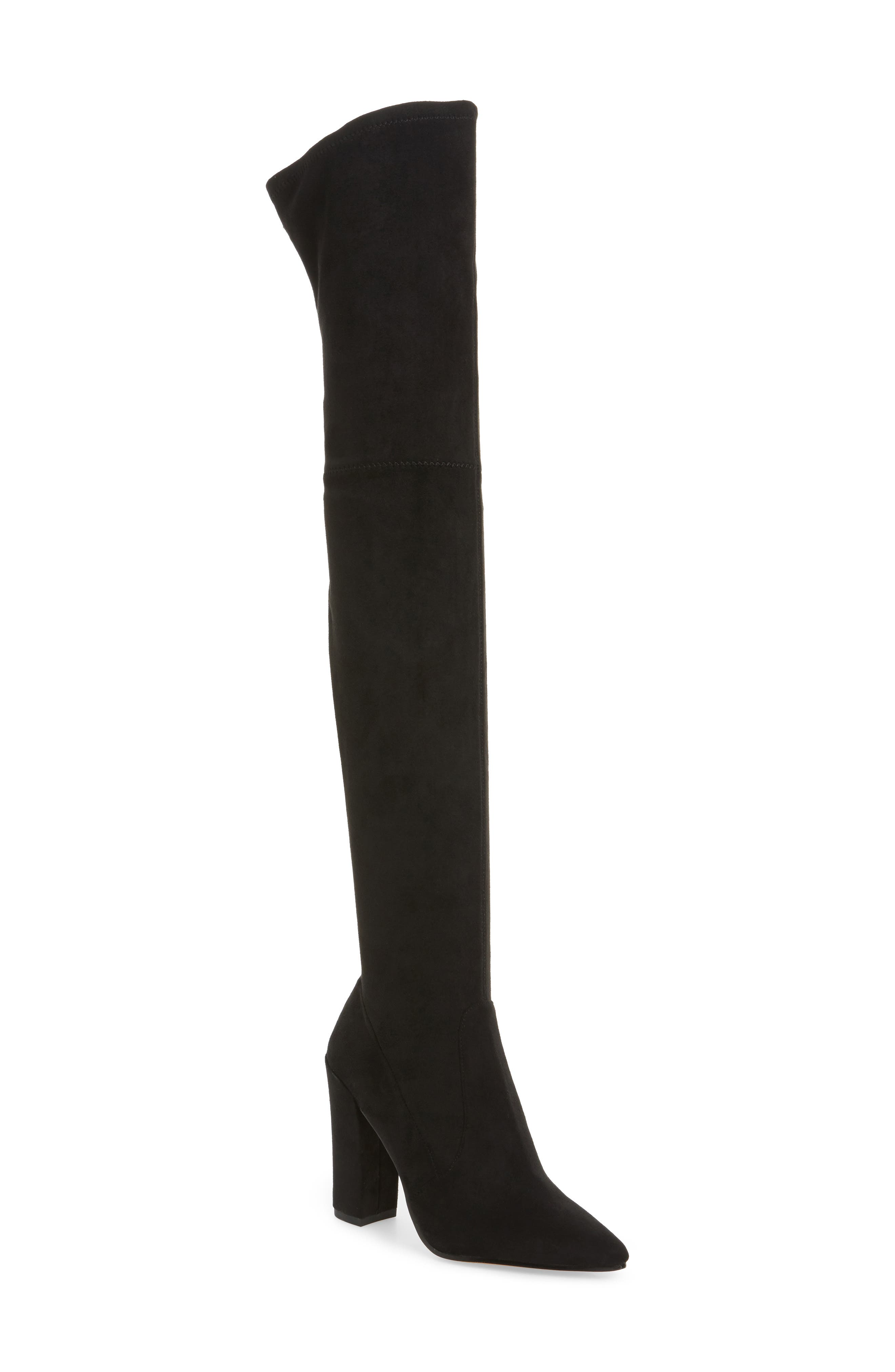 Emmy Over the Knee Boot,                             Main thumbnail 1, color,                             001
