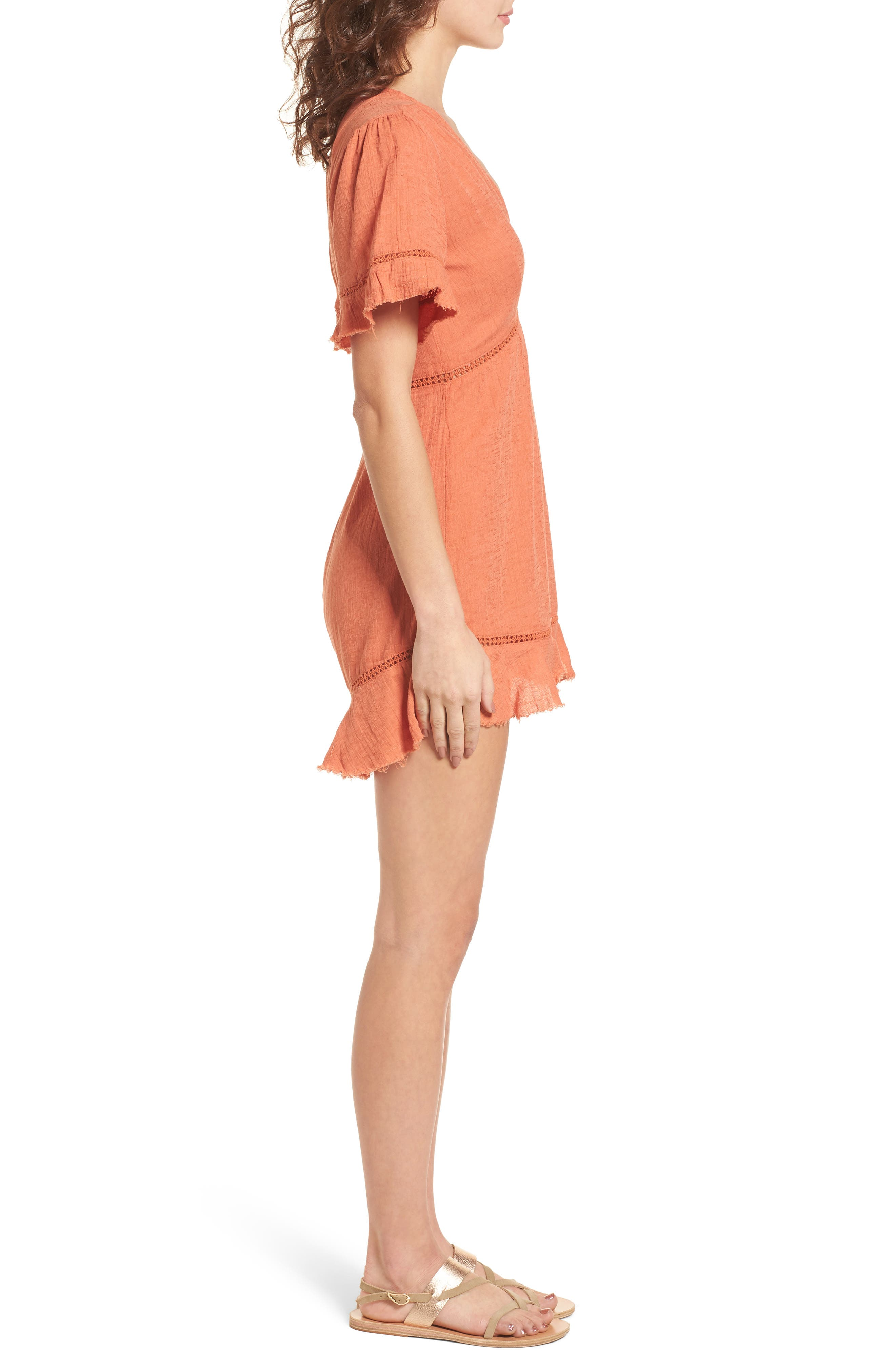 Highway to Highway Fray Edge Romper,                             Alternate thumbnail 3, color,                             950