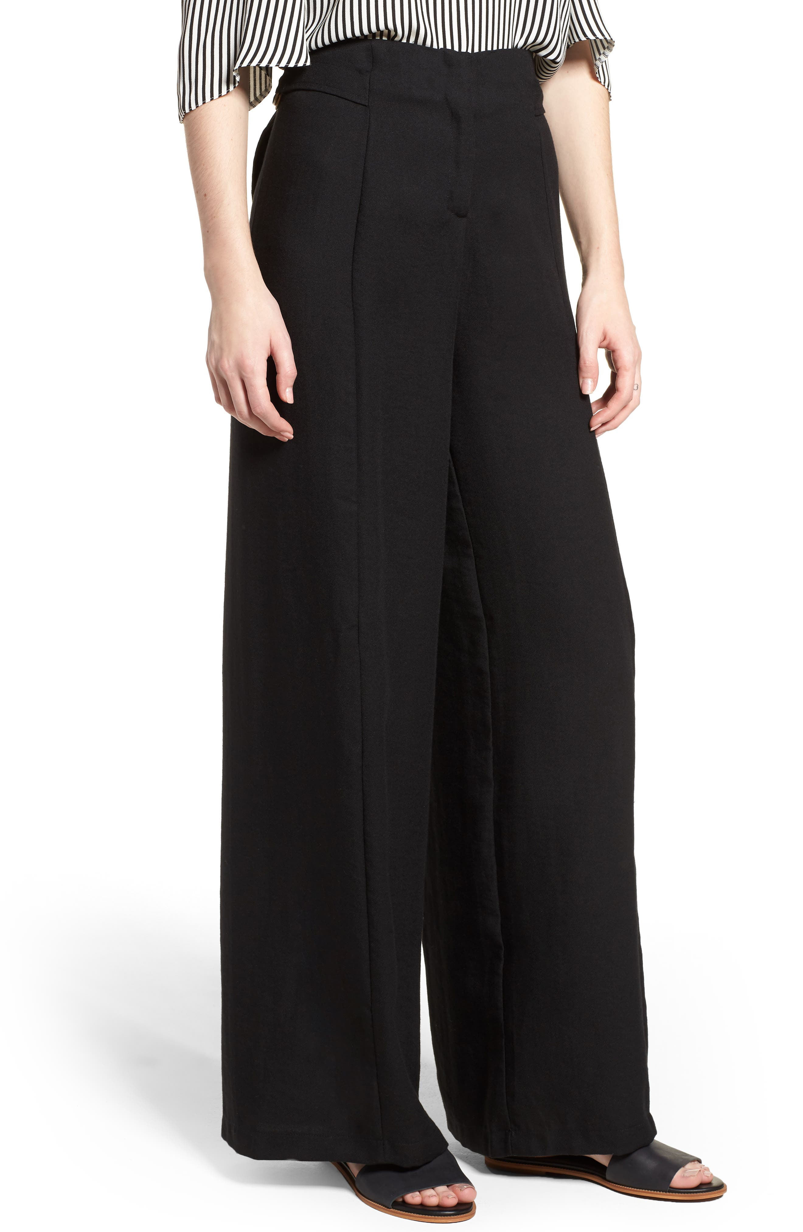 Bishop + Young O-Ring Wide Leg Pants,                         Main,                         color, 001