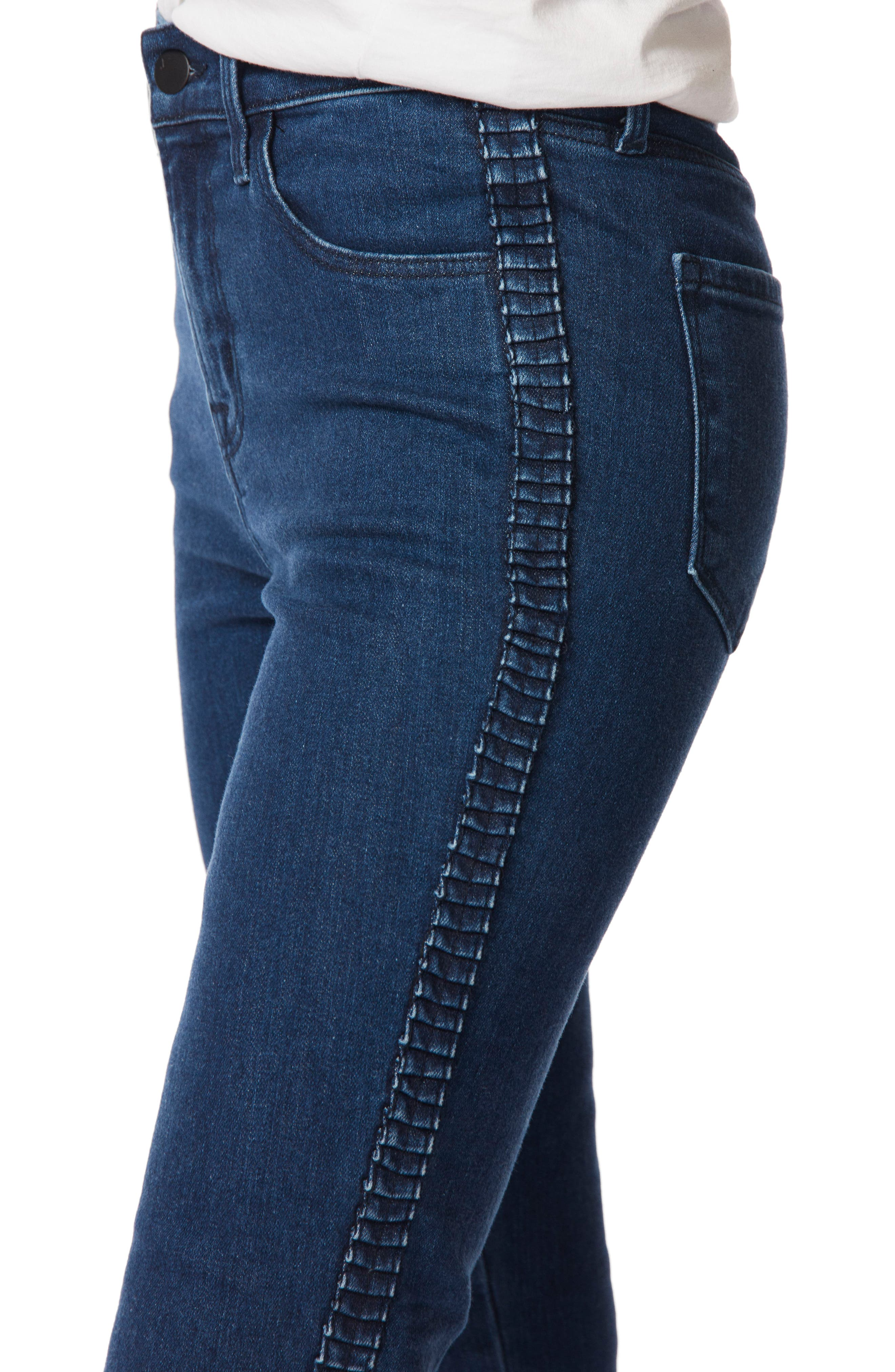 J BRAND,                             Alana High Waist Ankle Skinny Jeans,                             Alternate thumbnail 4, color,                             405