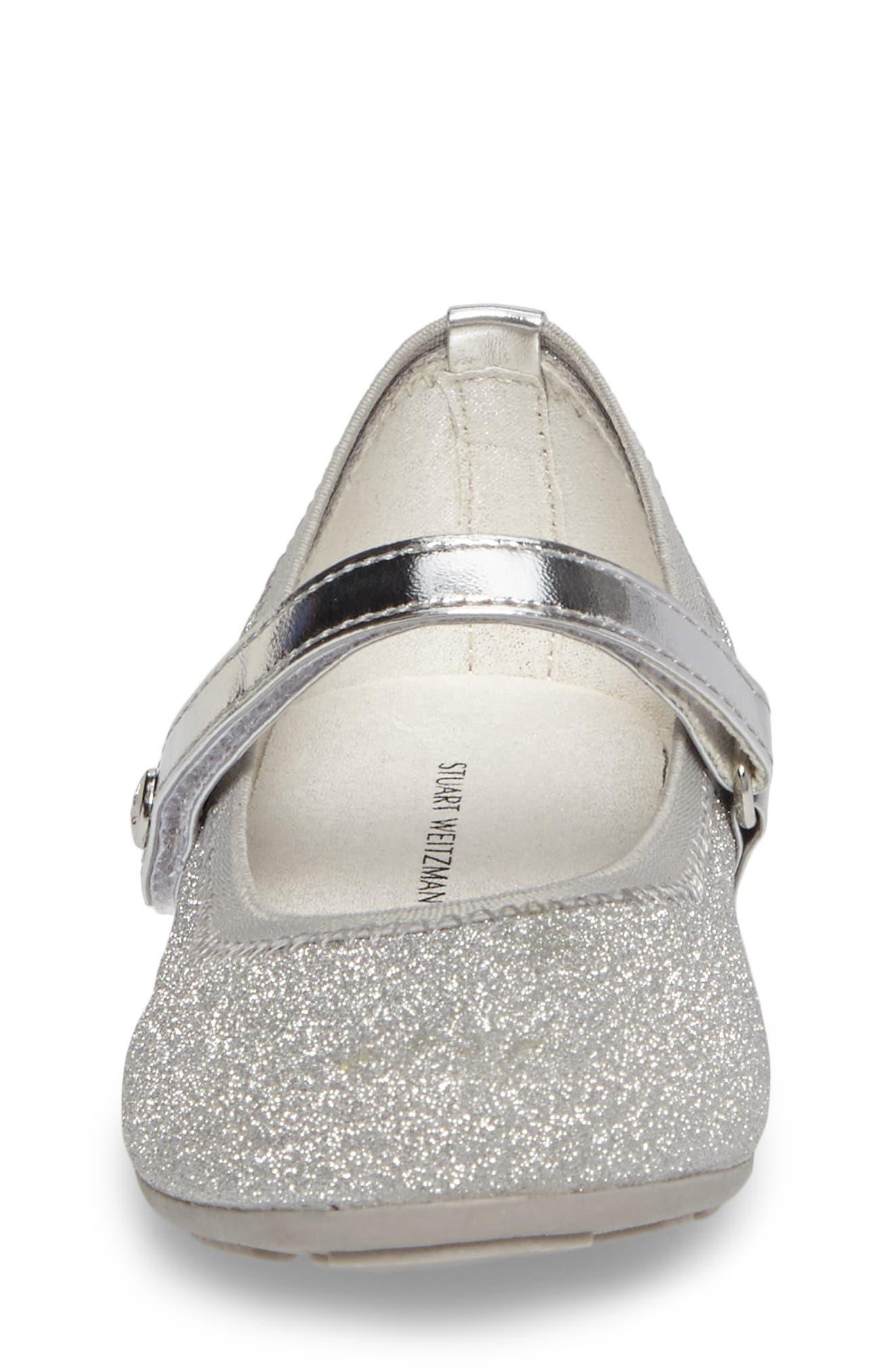 Fannie Dancer Glittery Mary Jane Ballet Flat,                             Alternate thumbnail 4, color,