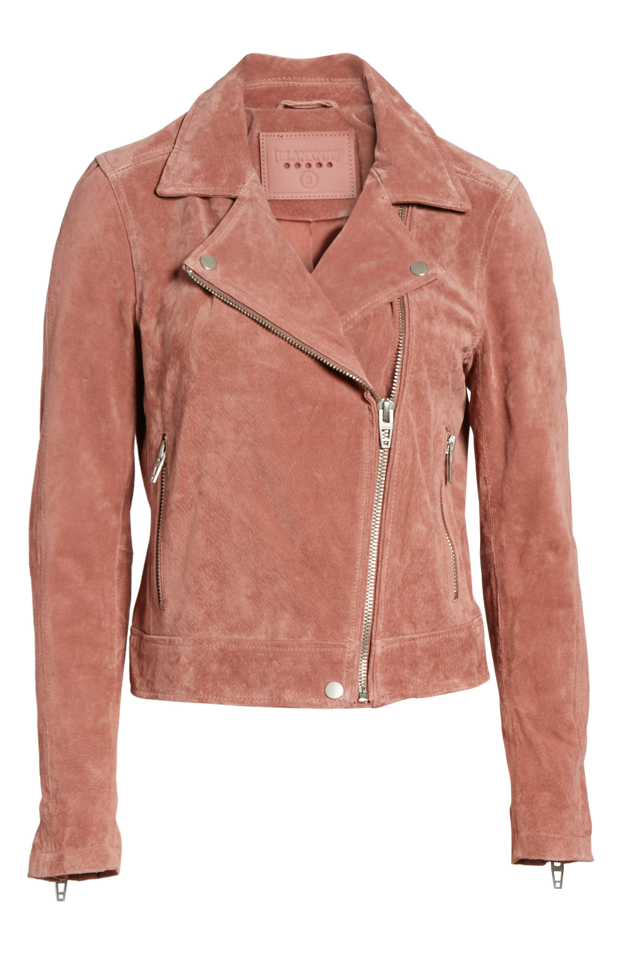 Suede Moto Jacket,                             Alternate thumbnail 5, color,                             201