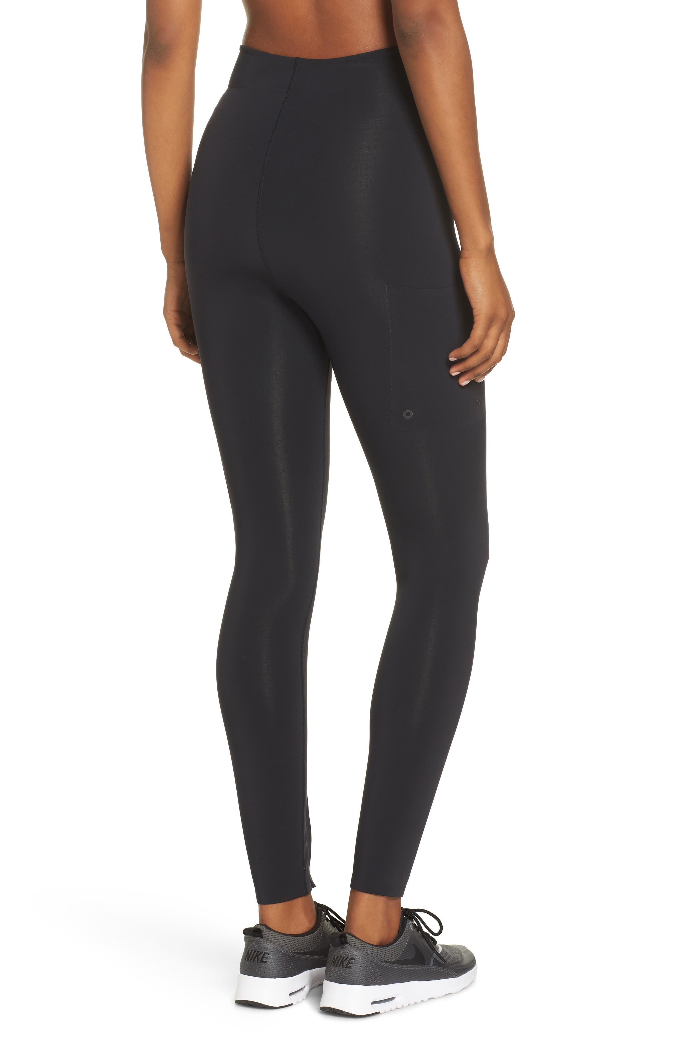 NikeLab XX Women's High Rise Training Tights,                             Alternate thumbnail 2, color,                             BLACK
