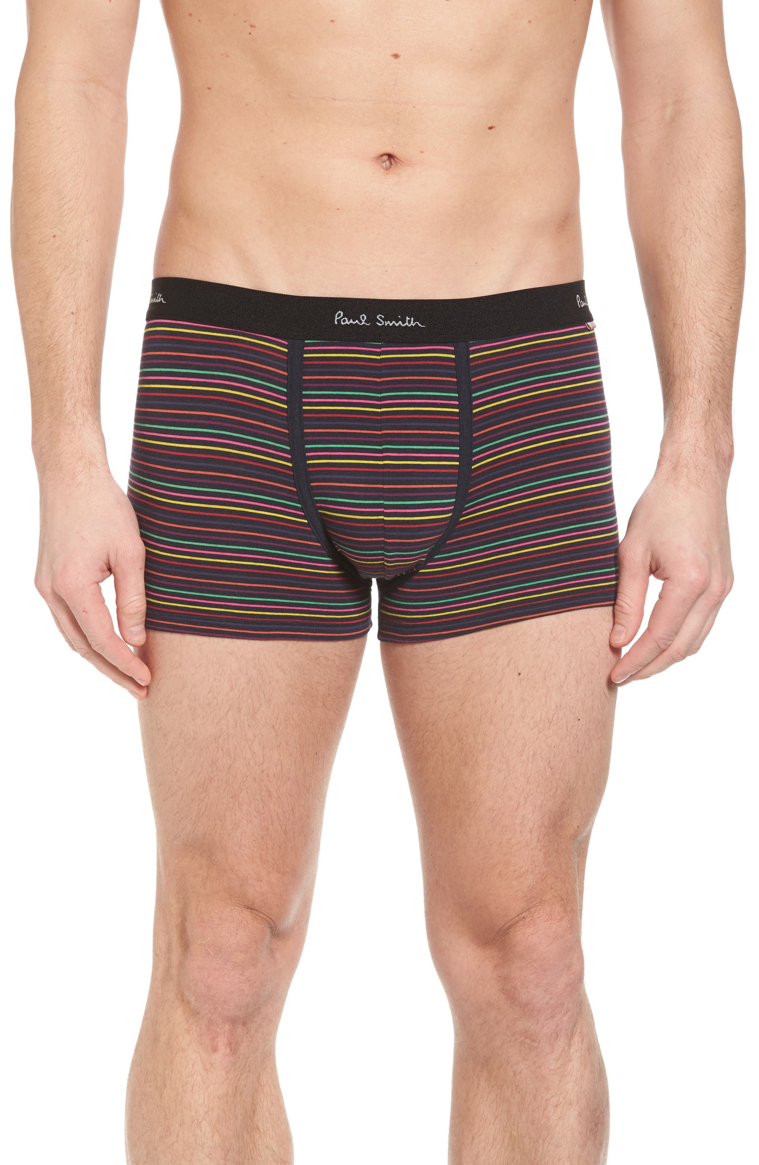 Pinstripe Stretch Cotton Trunks,                             Main thumbnail 1, color,