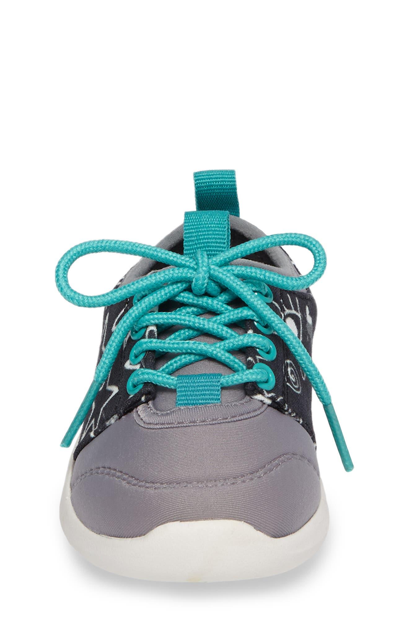 Bolt Sock-Fit Sneaker,                             Alternate thumbnail 4, color,                             001