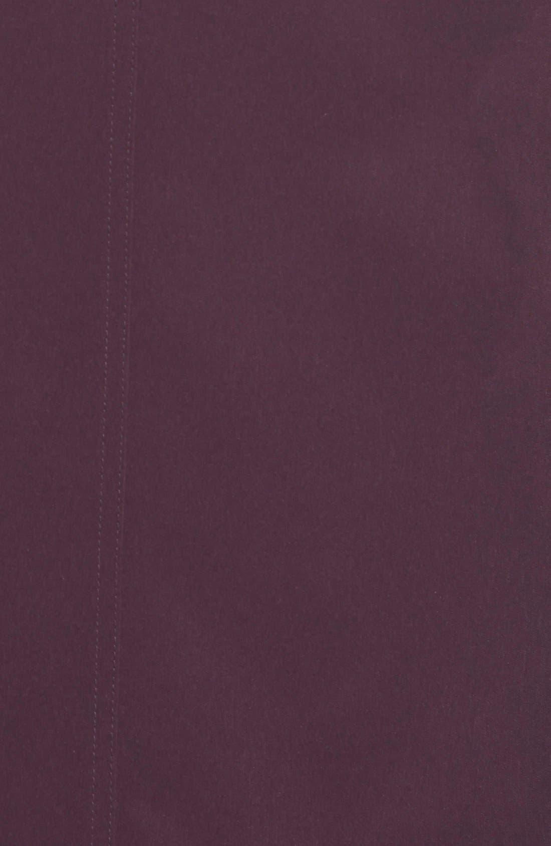 Two Tone Long Silk Look Raincoat,                             Alternate thumbnail 3, color,                             518