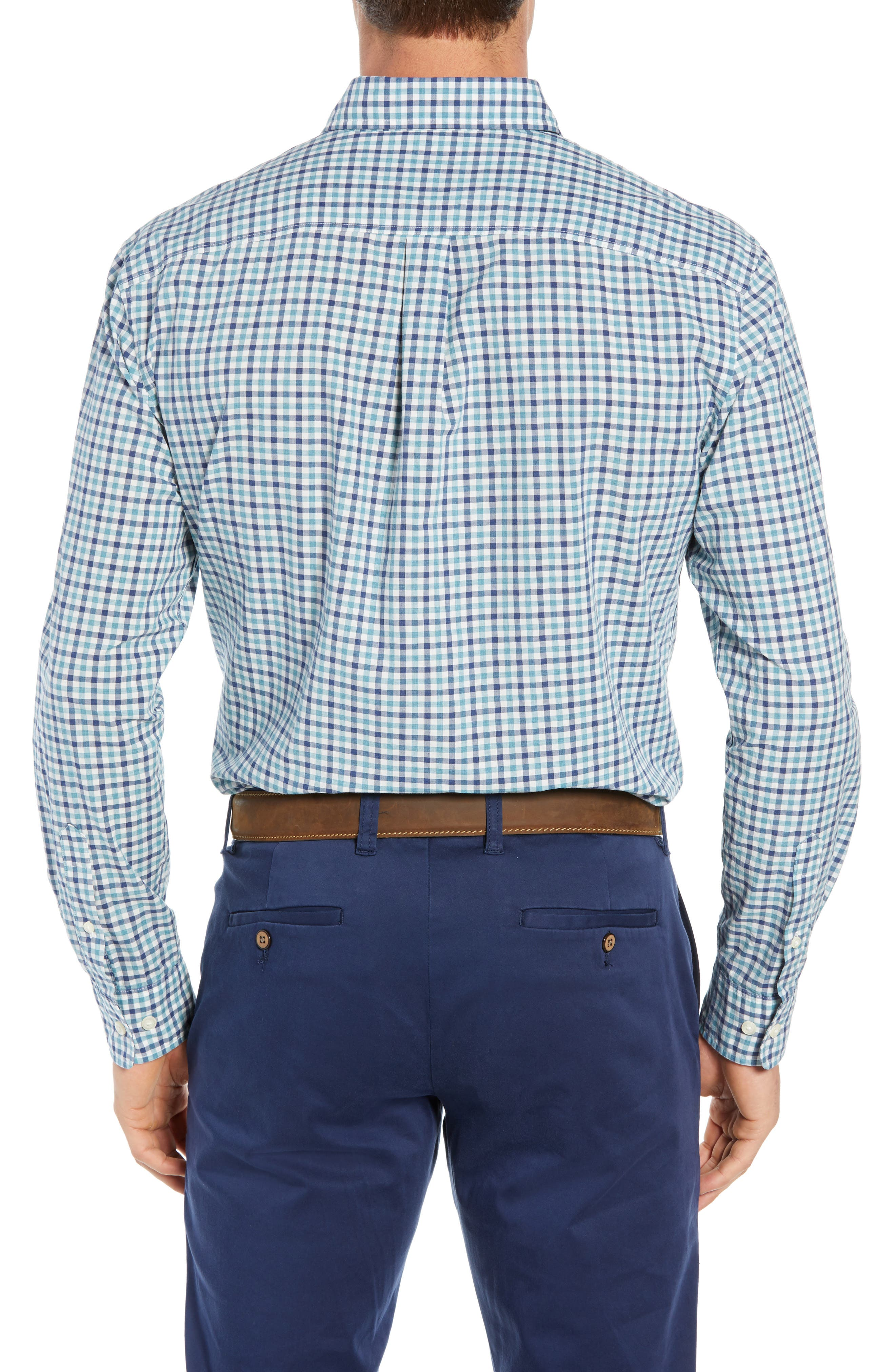 Finley Classic Fit Sport Shirt,                             Alternate thumbnail 3, color,                             JADE