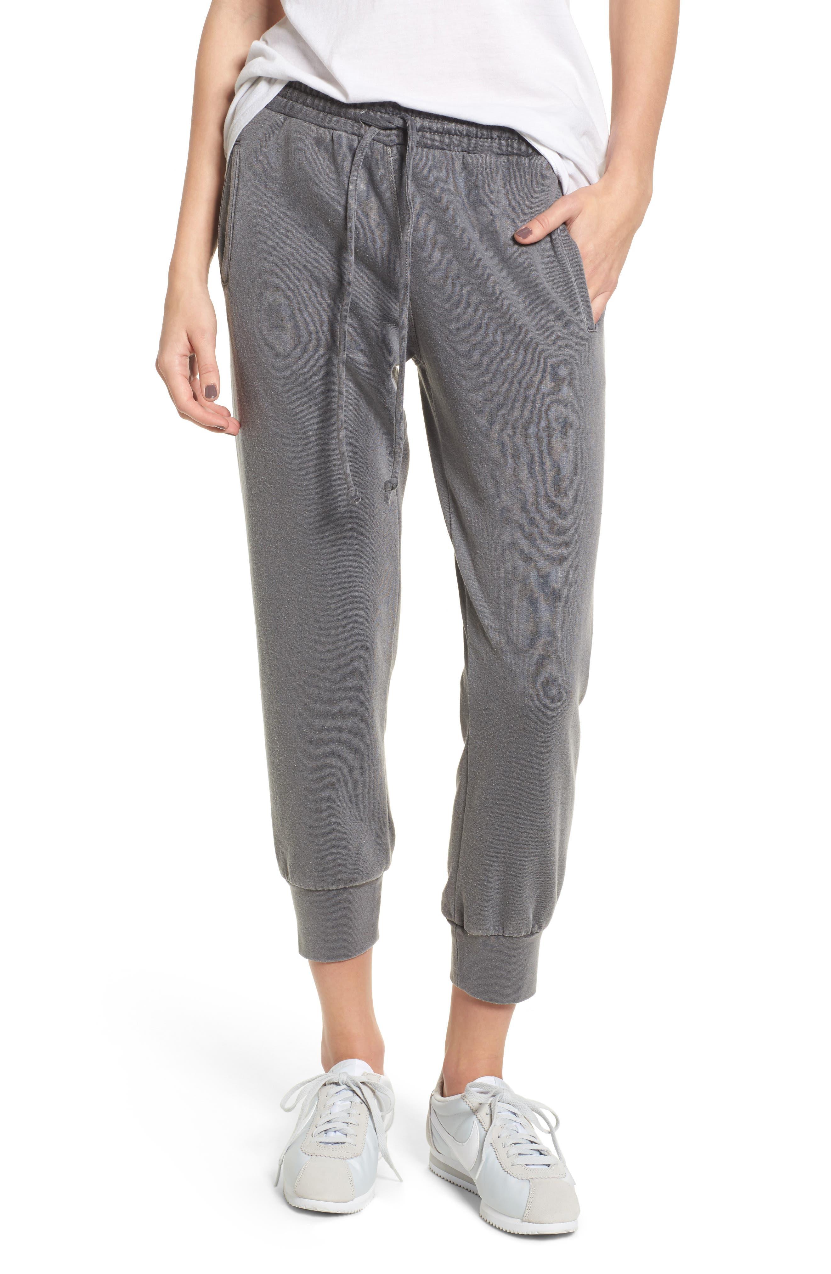 Cambridge Crop Sweatpants,                         Main,                         color, THUNDERSTORM