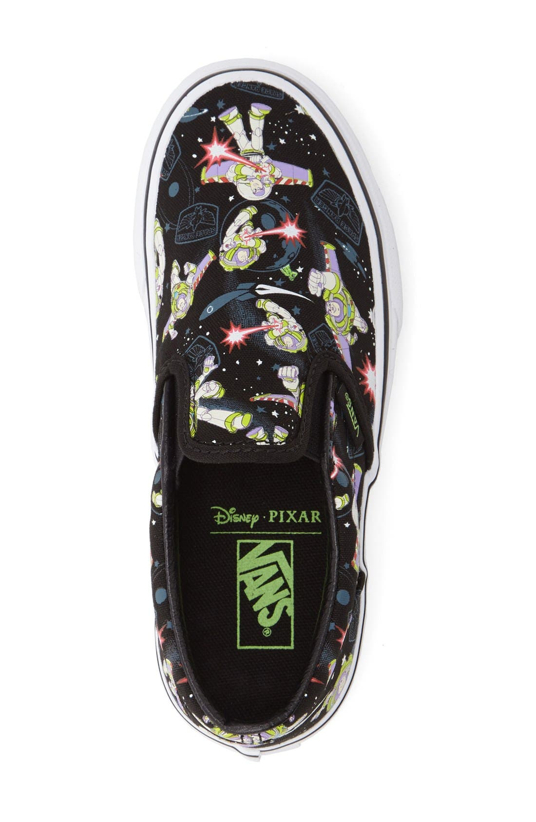 x Disney Pixar<sup>®</sup> Toy Story<sup>™</sup> Buzz Lightyear Classic Slip-On,                             Alternate thumbnail 3, color,                             001