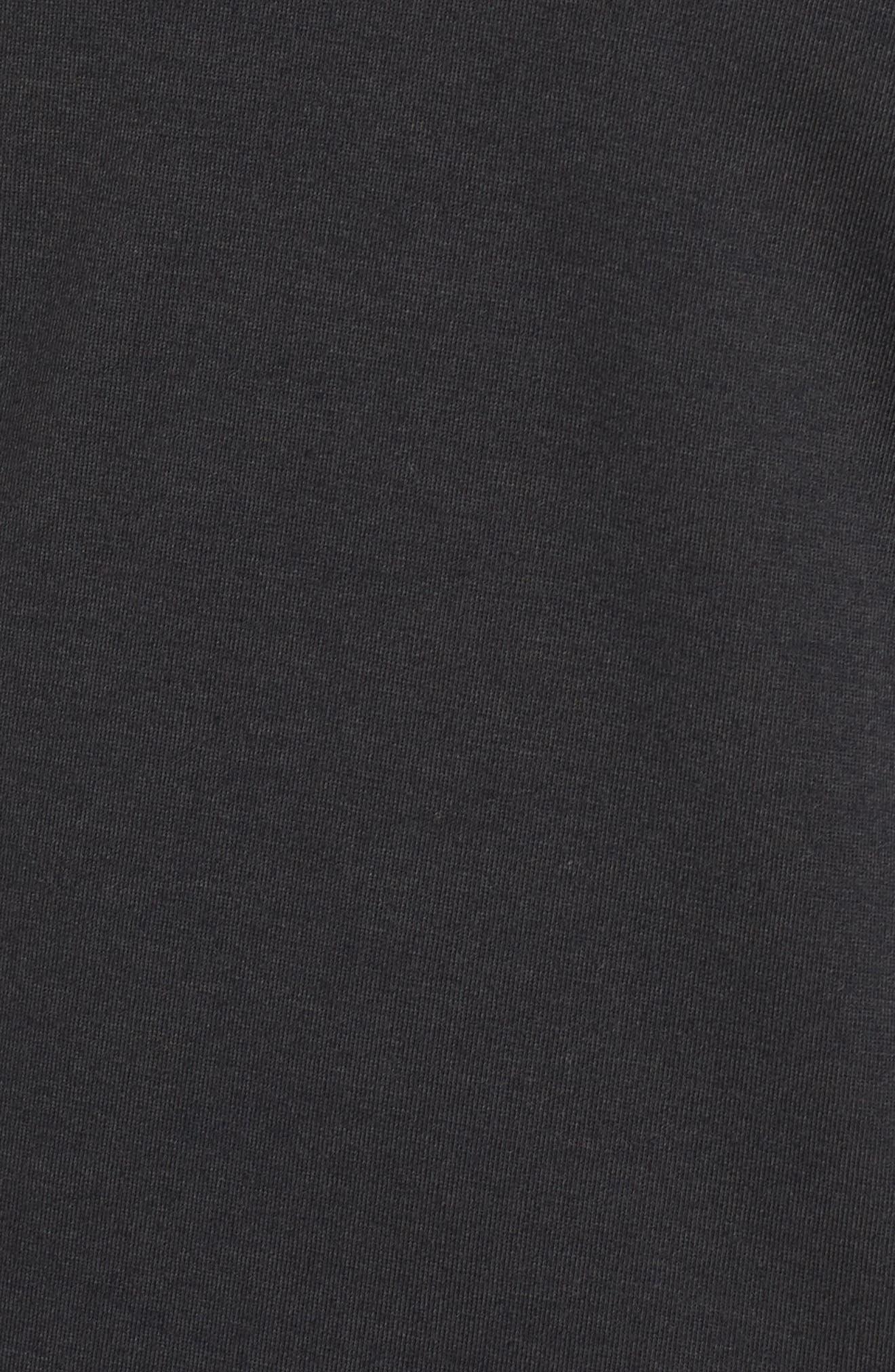 Swyft Funnel Neck Hoodie,                             Alternate thumbnail 6, color,                             BLACK/ BLACK/ REFLECTIVE