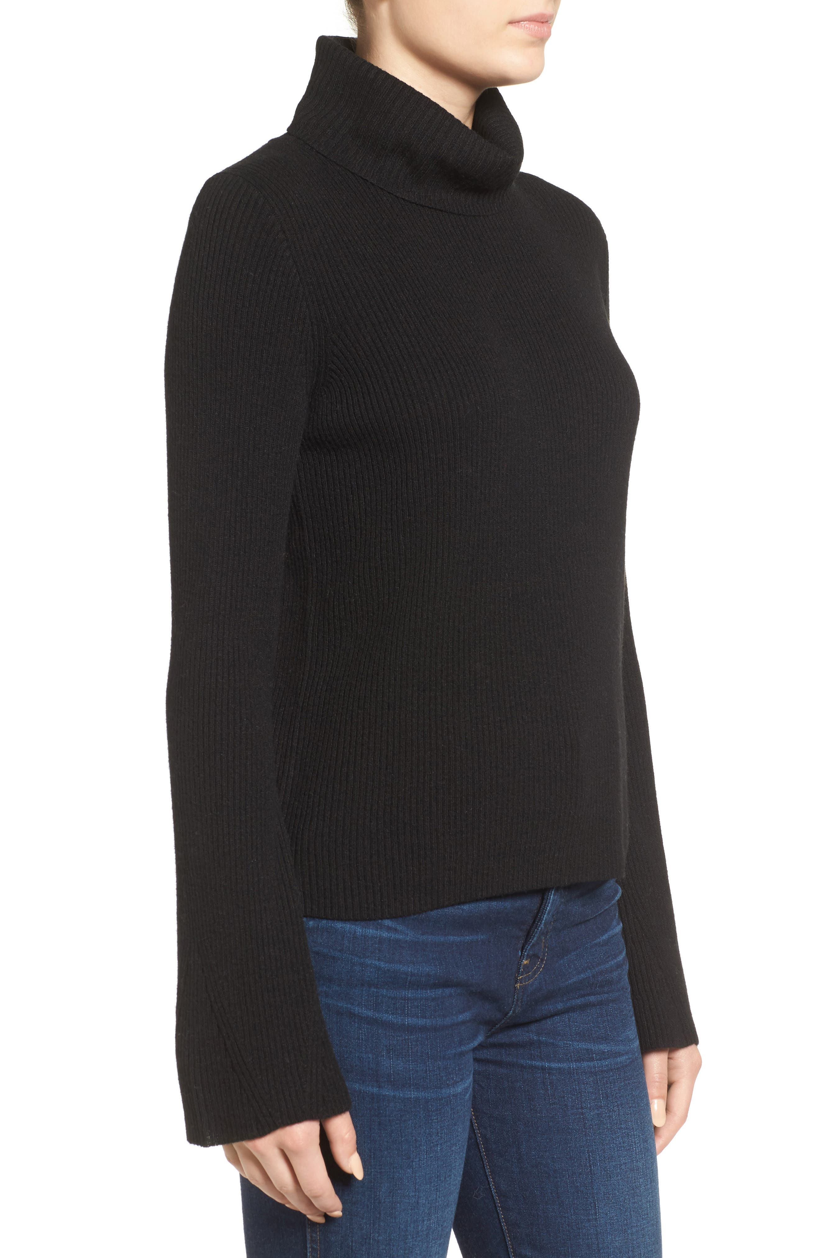 MADEWELL,                             Turtleneck Sweater,                             Alternate thumbnail 3, color,                             001