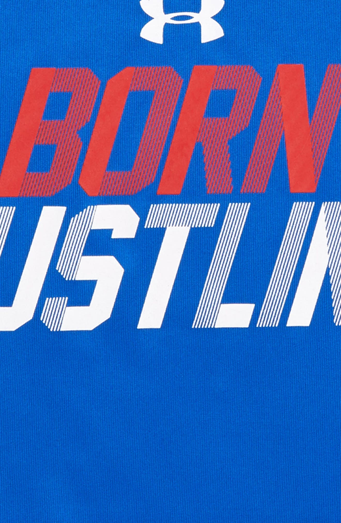 Born Hustlin' HeatGear<sup>®</sup> T-Shirt,                             Alternate thumbnail 2, color,                             420