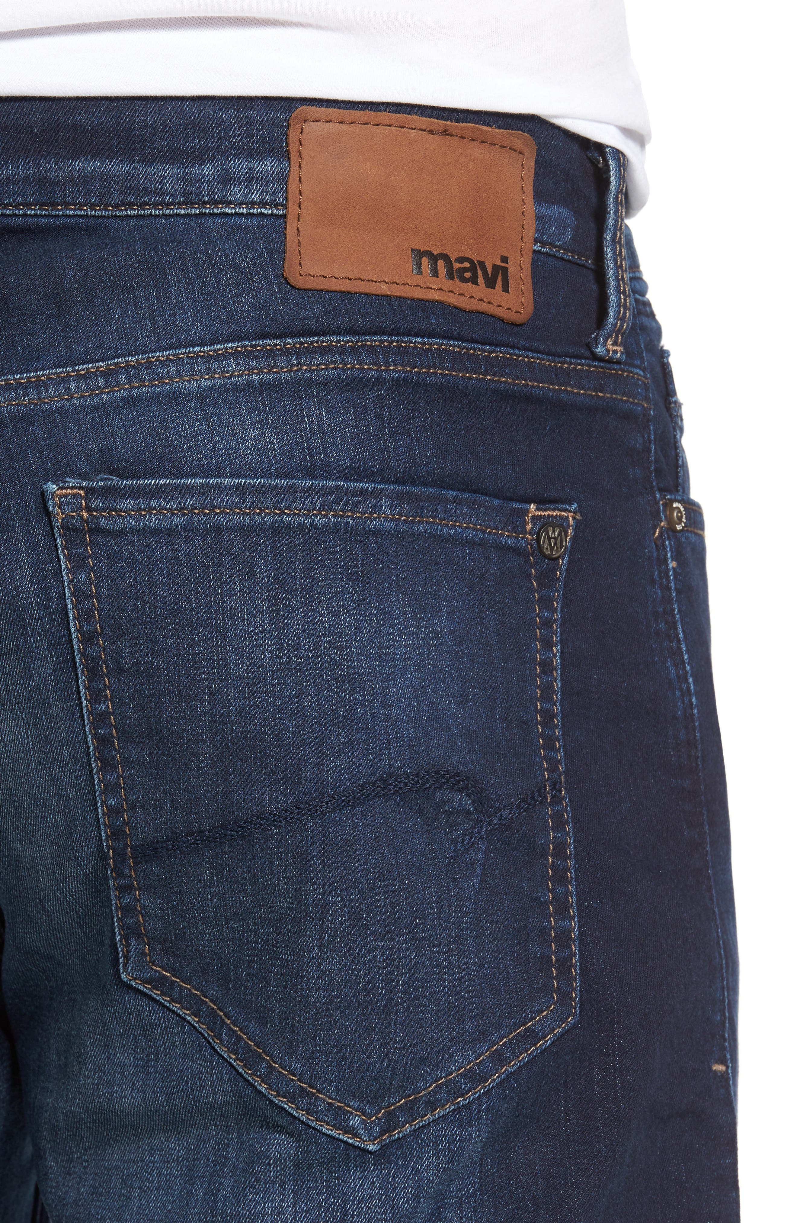 'Max' Relaxed Fit Jeans,                             Alternate thumbnail 4, color,                             DARK WILLIAMSBURG
