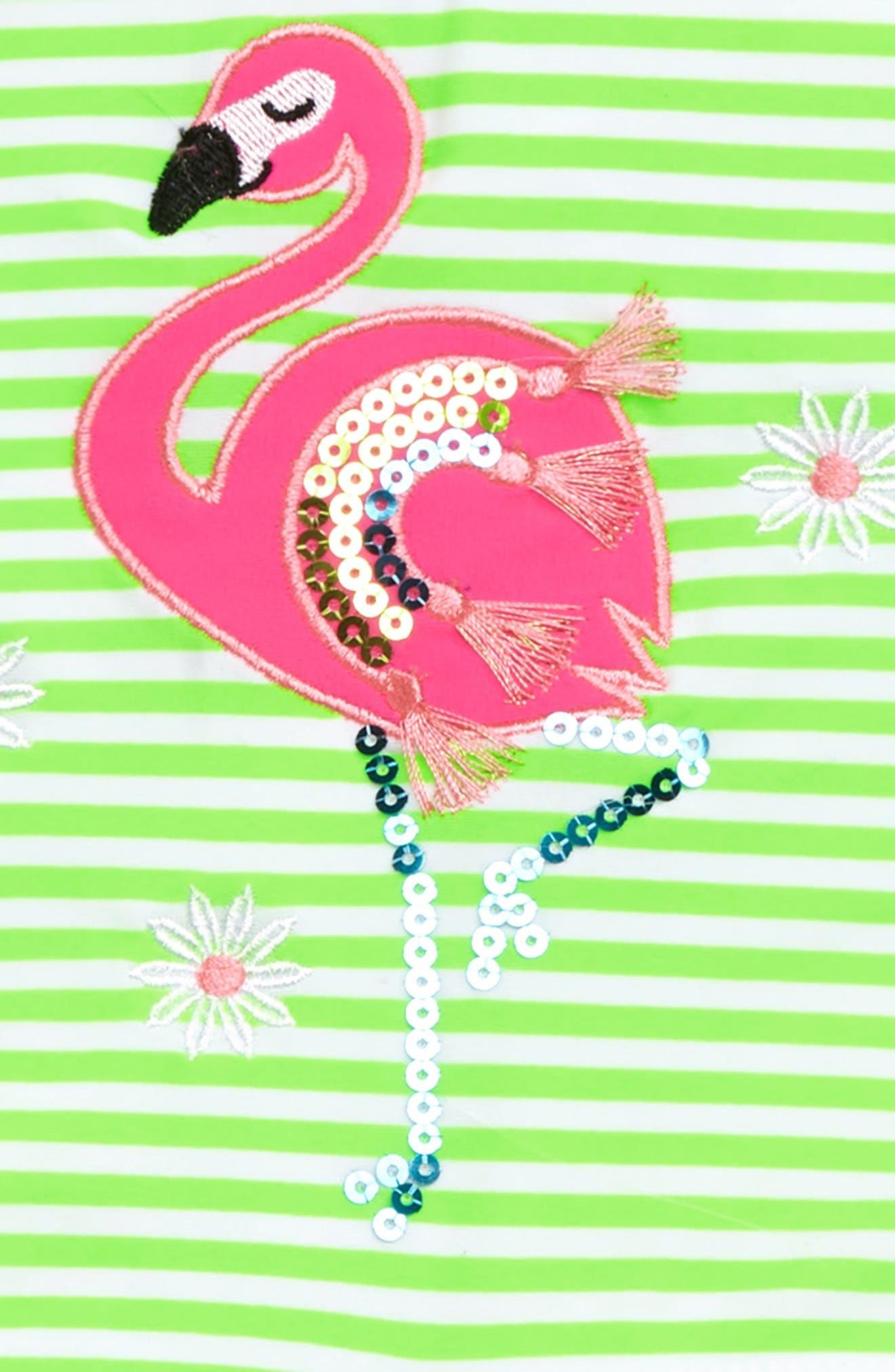 Flamingo Tankini Two-Piece Swimsuit,                             Alternate thumbnail 2, color,                             STRIPE