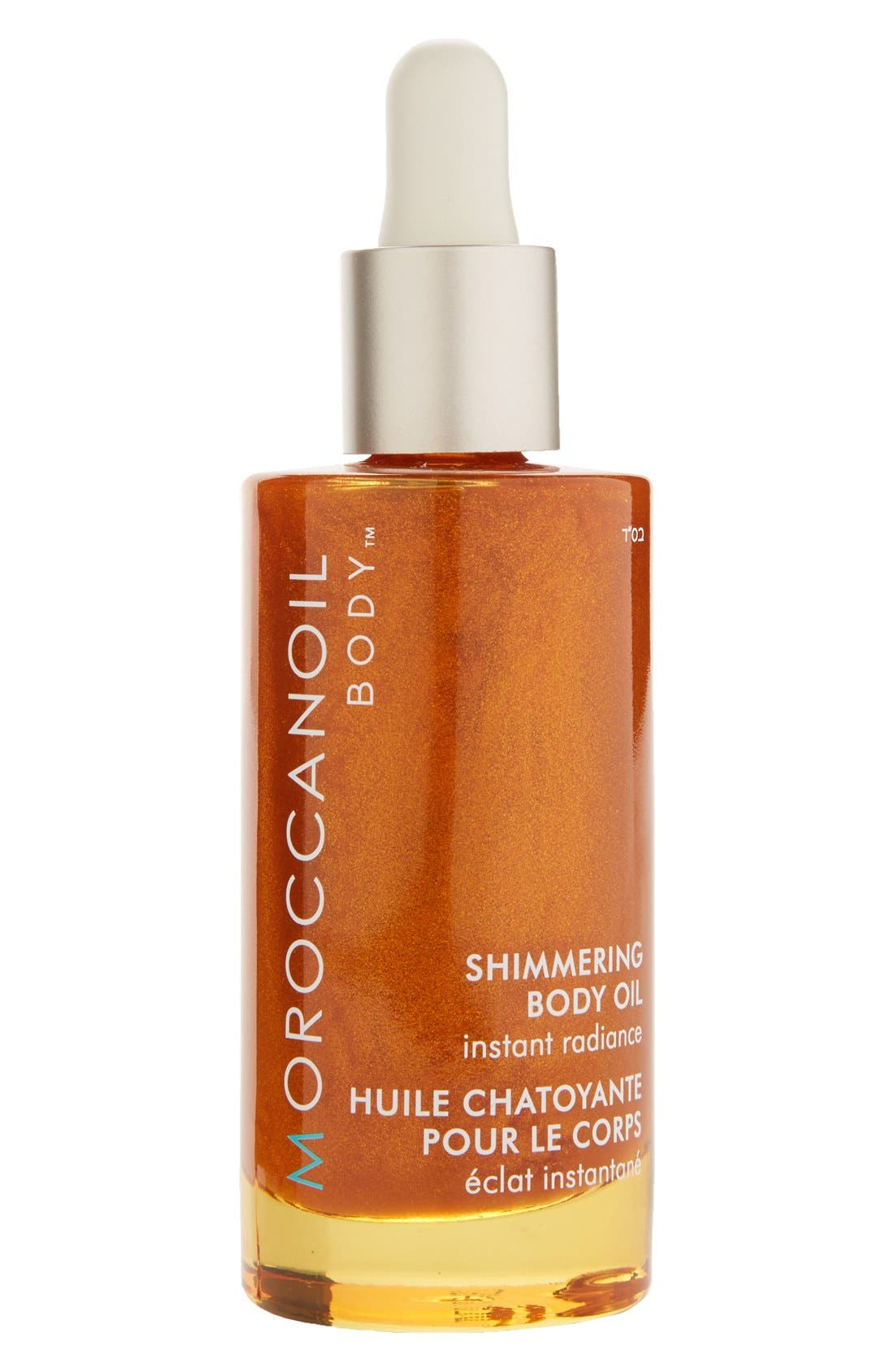 Instant Radiance Shimmering Body Oil,                             Main thumbnail 1, color,                             000