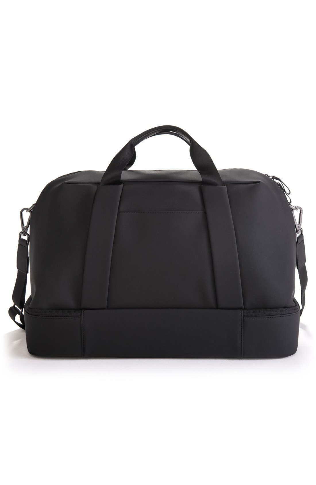 Signature Large Boston Duffel Bag,                             Alternate thumbnail 5, color,                             MATTE BLACK
