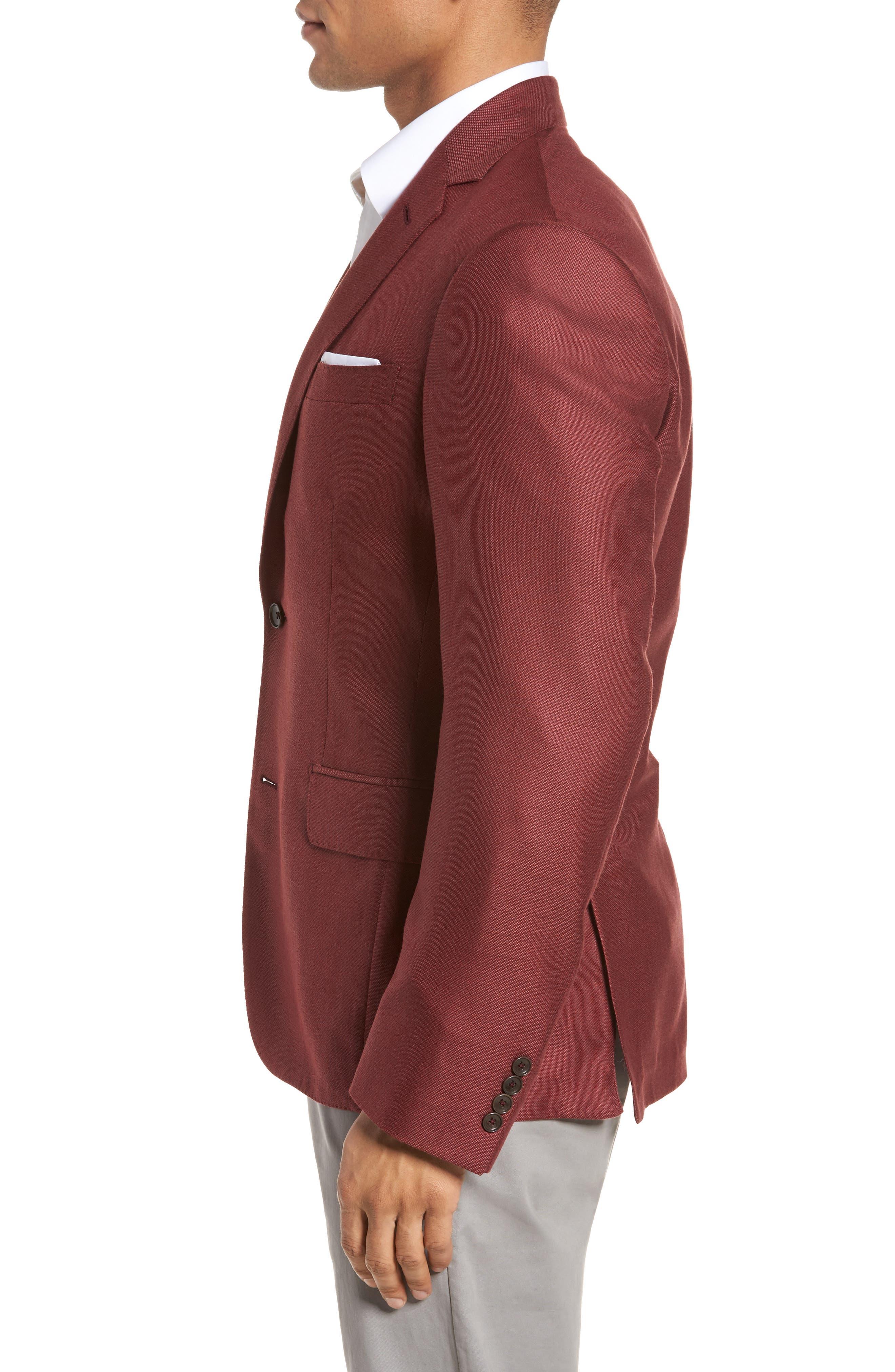 Trim Fit Cashmere & Silk Blazer,                             Alternate thumbnail 12, color,