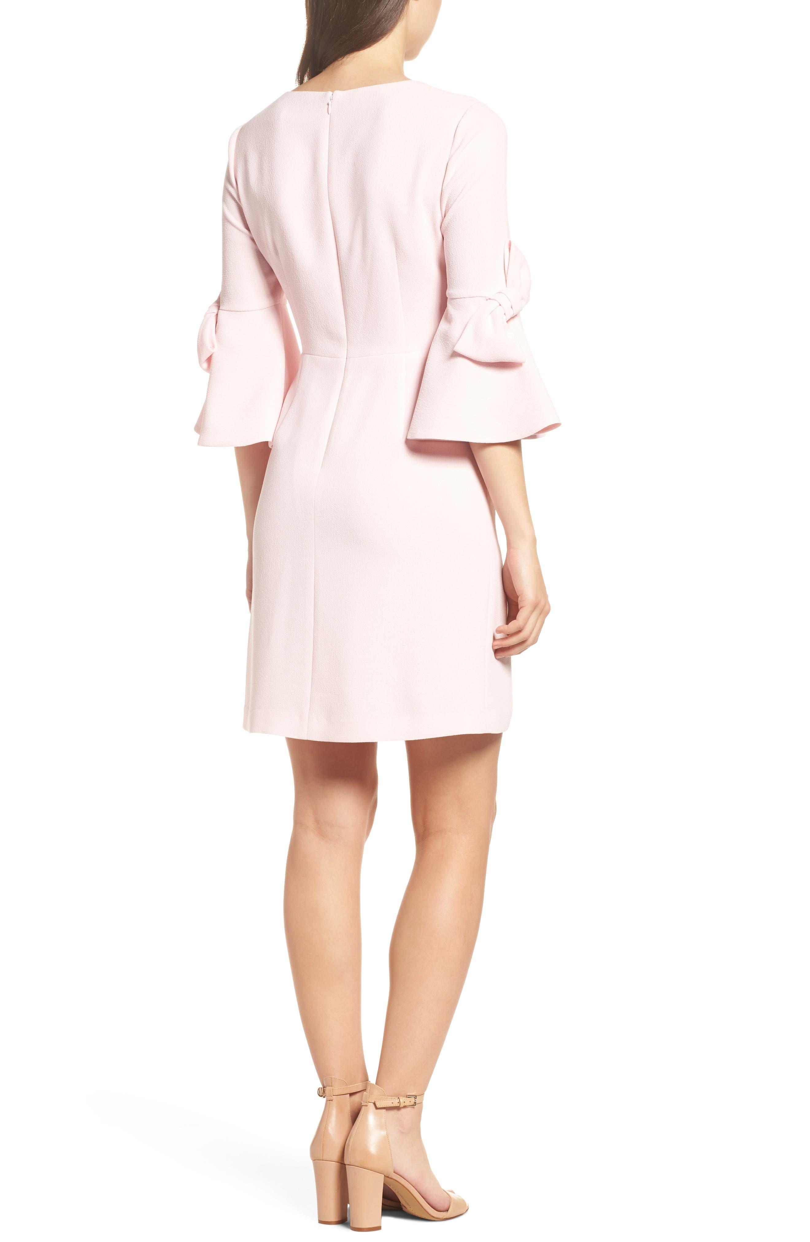 Bell Sleeve Sheath Dress,                             Alternate thumbnail 2, color,