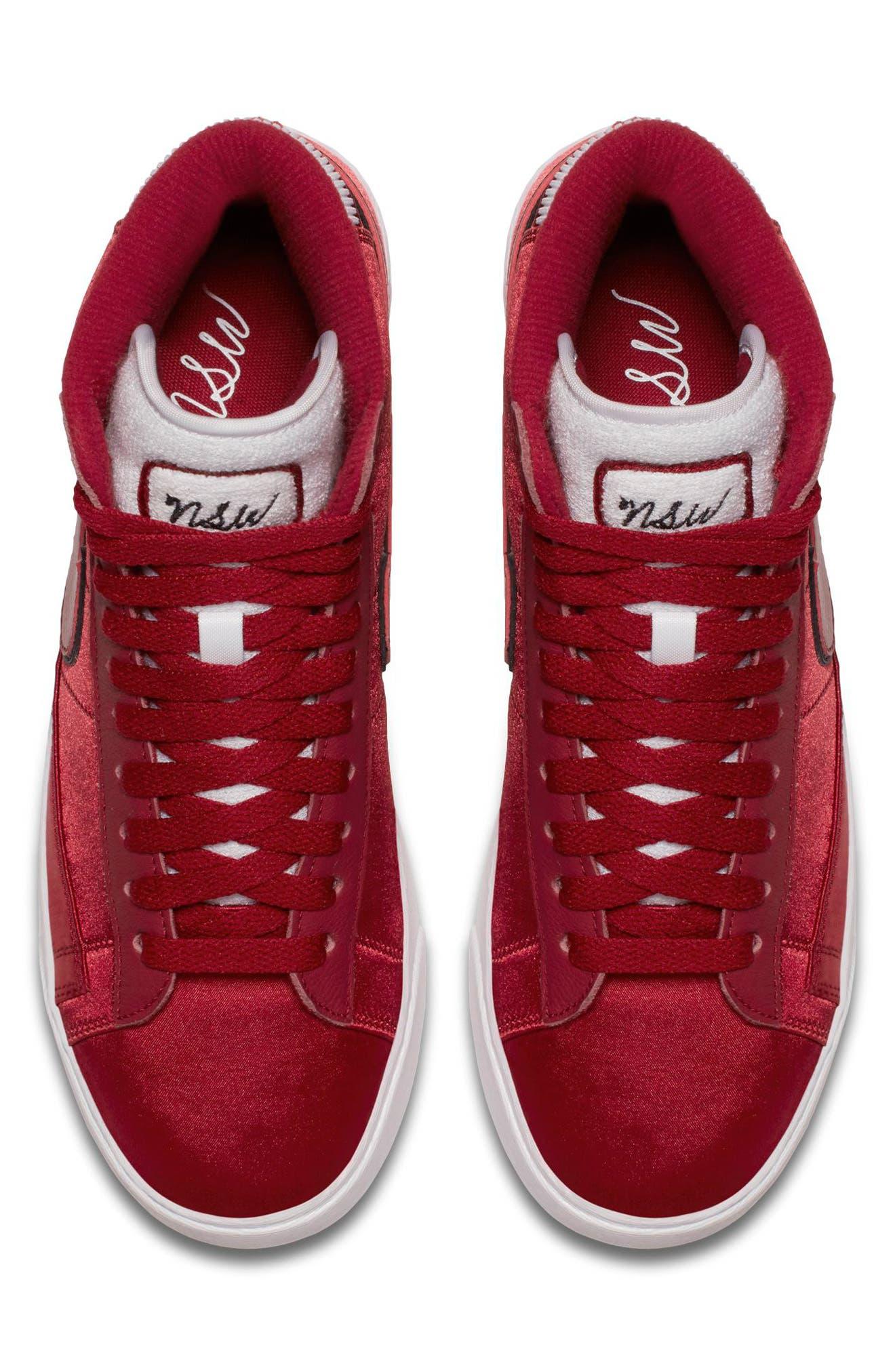 Blazer Mid Top Sneaker,                             Alternate thumbnail 4, color,                             RED CRUSH/ WHITE/ BLACK