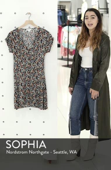 Floral Print Button Front Dress, sales video thumbnail