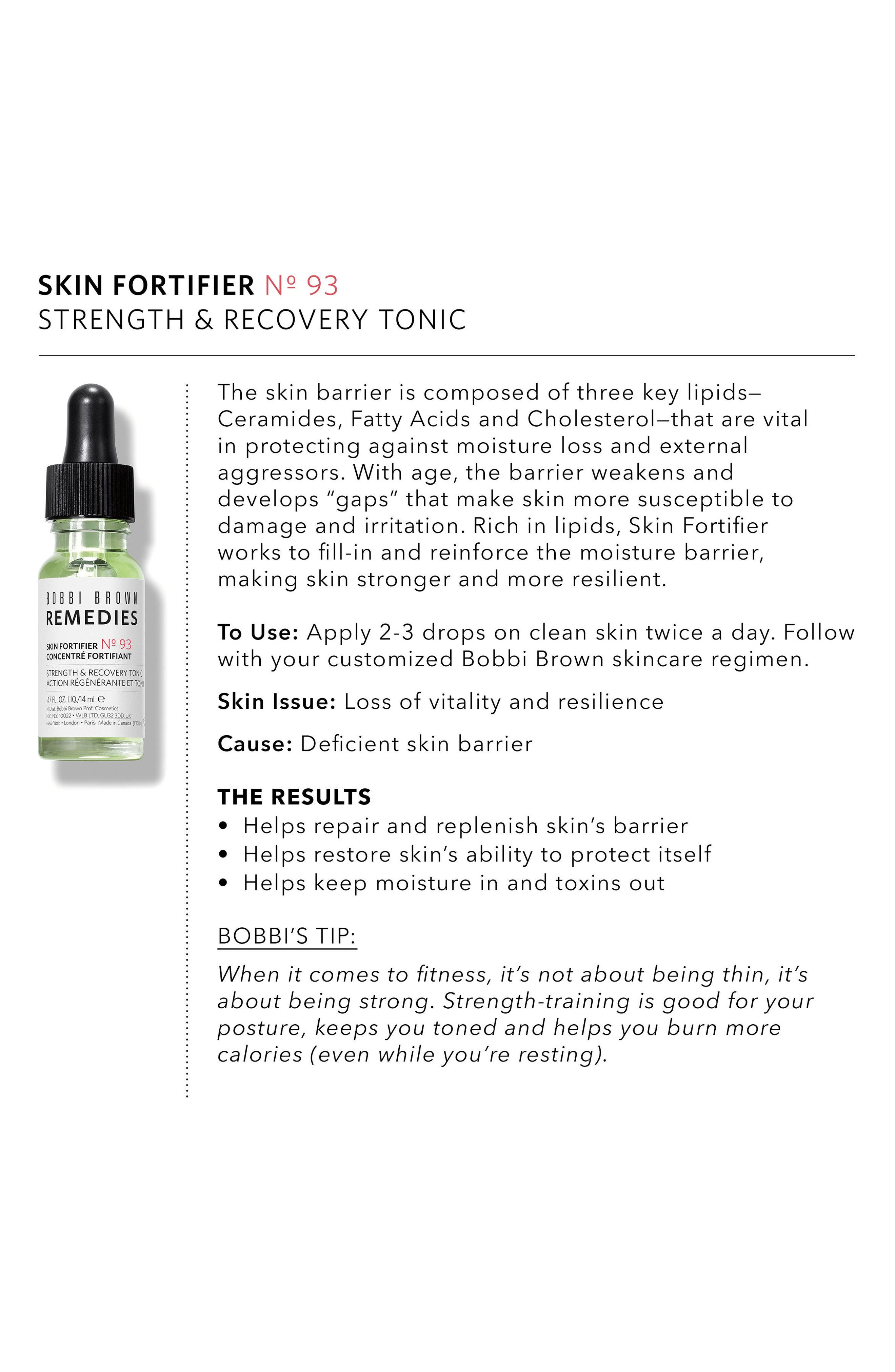 Remedies Skin Fortifier Strength & Recovery Tonic,                             Alternate thumbnail 4, color,                             000