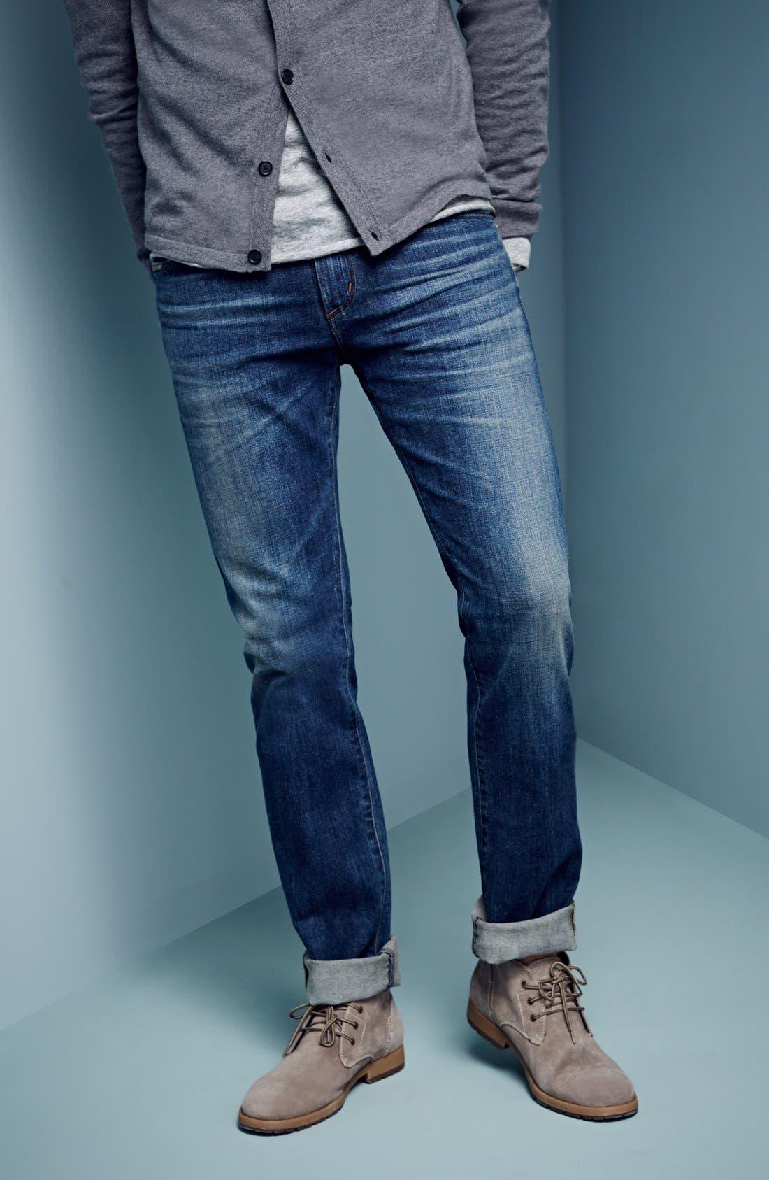 'Core' Slim Fit Jeans,                             Alternate thumbnail 5, color,                             MORRISON