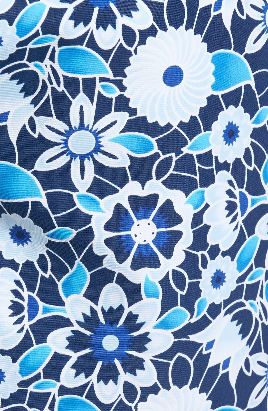 Floral Print Swim Trunks,                             Alternate thumbnail 5, color,                             420