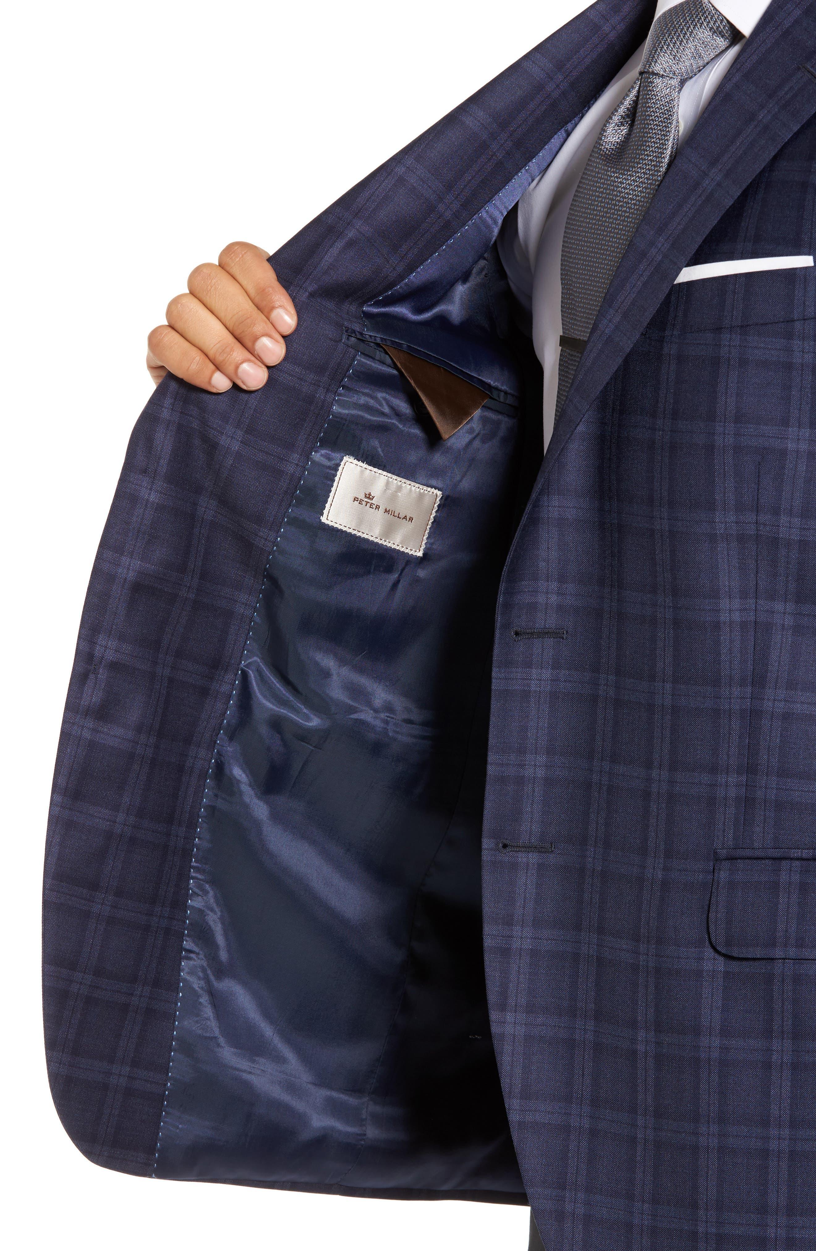 Classic Fit Windowpane Wool Sport Coat,                             Alternate thumbnail 4, color,