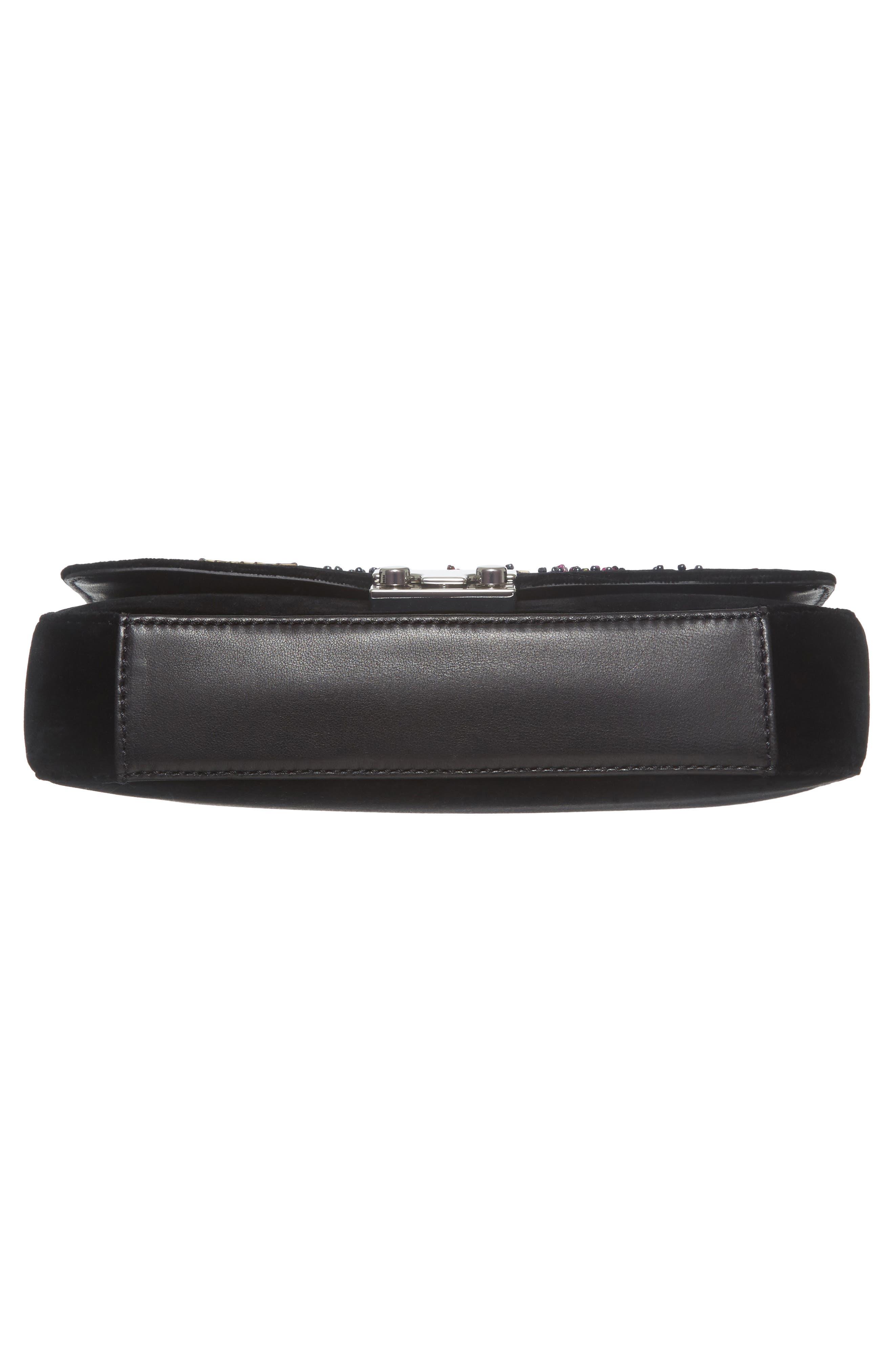 Loeffler Randal Lock Sequin Shoulder Bag,                             Alternate thumbnail 6, color,