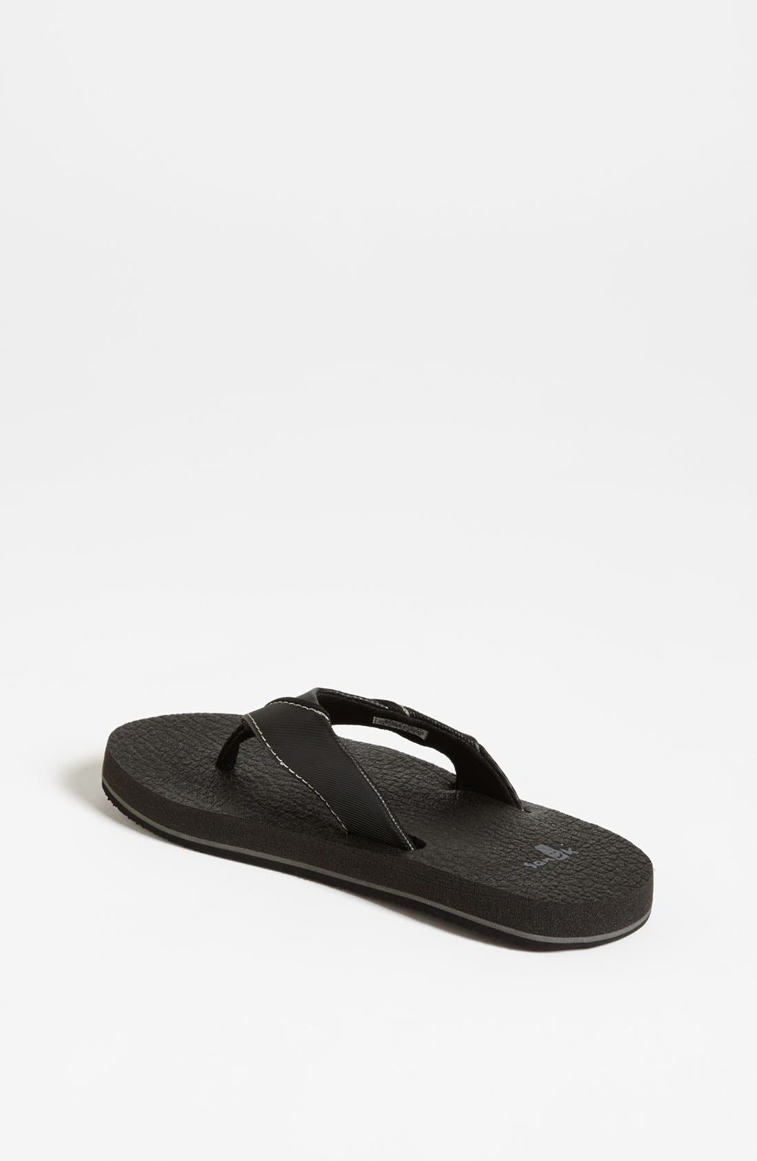 'Root Beer' Sandal,                             Alternate thumbnail 3, color,                             BLACK
