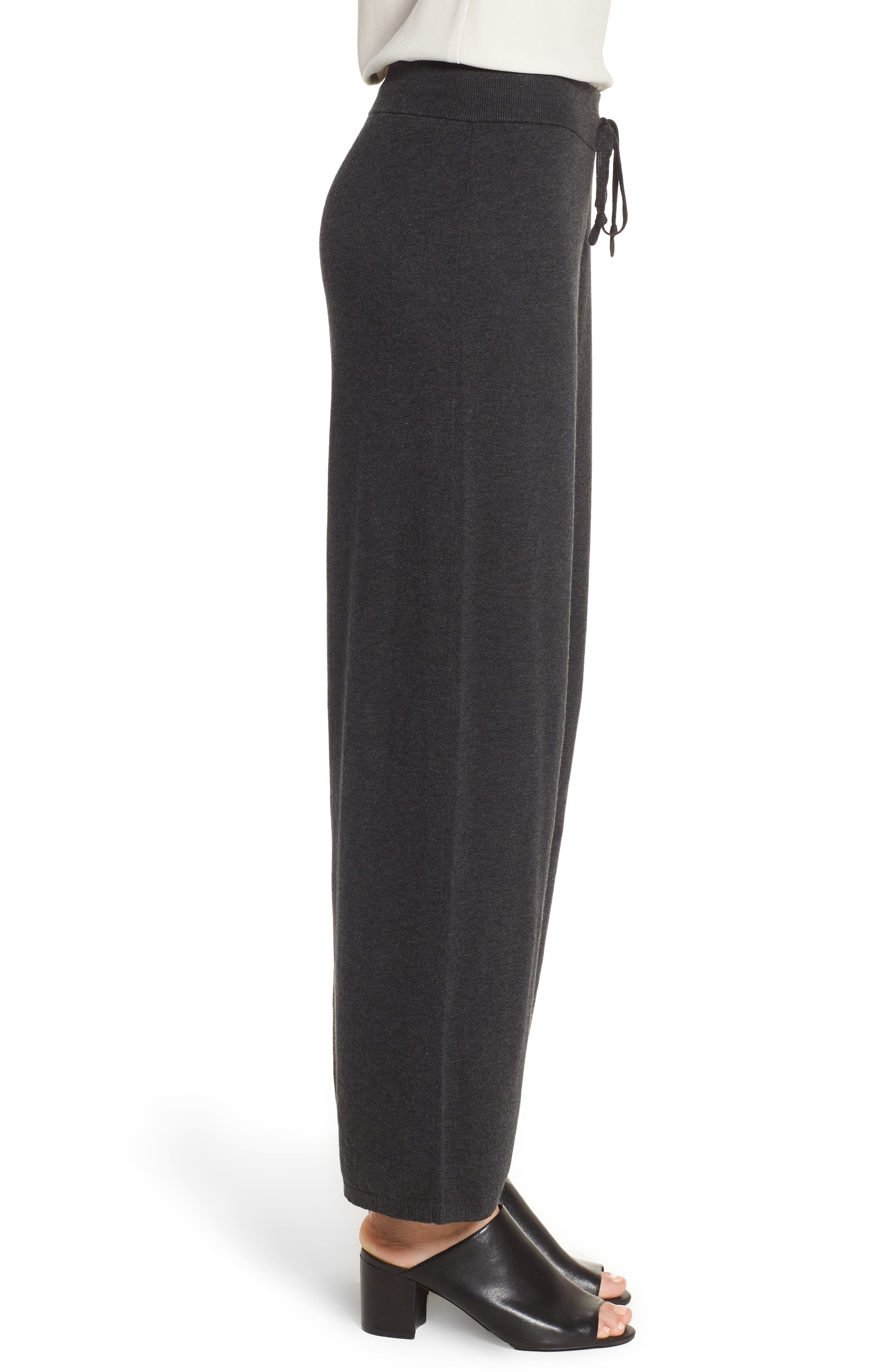 Tencel<sup>®</sup> Lyocell Blend Knit Wide Leg Pants,                             Alternate thumbnail 3, color,