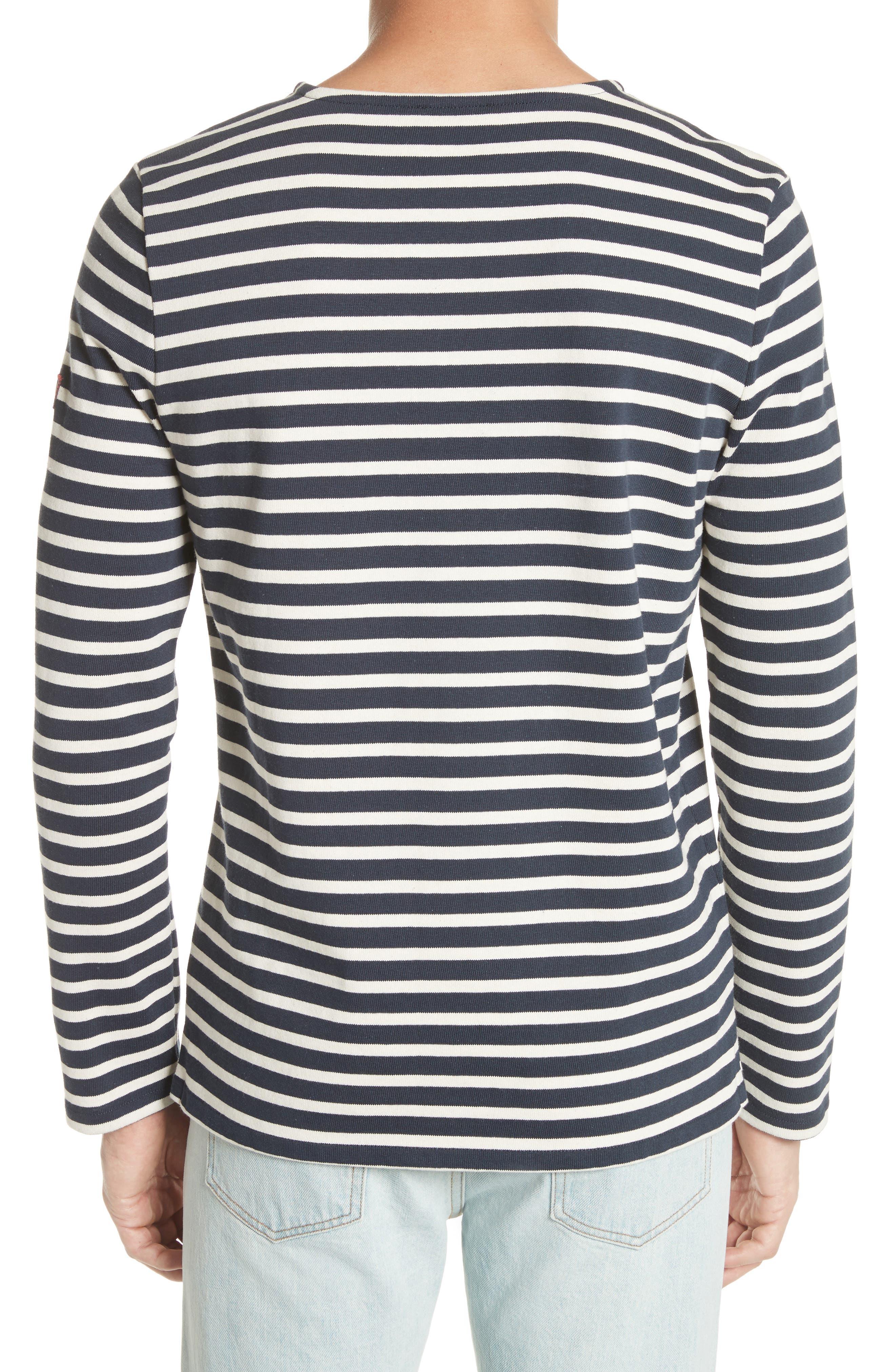 Marinière Matt Stripe Long Sleeve T-Shirt,                             Alternate thumbnail 2, color,                             DARK NAVY