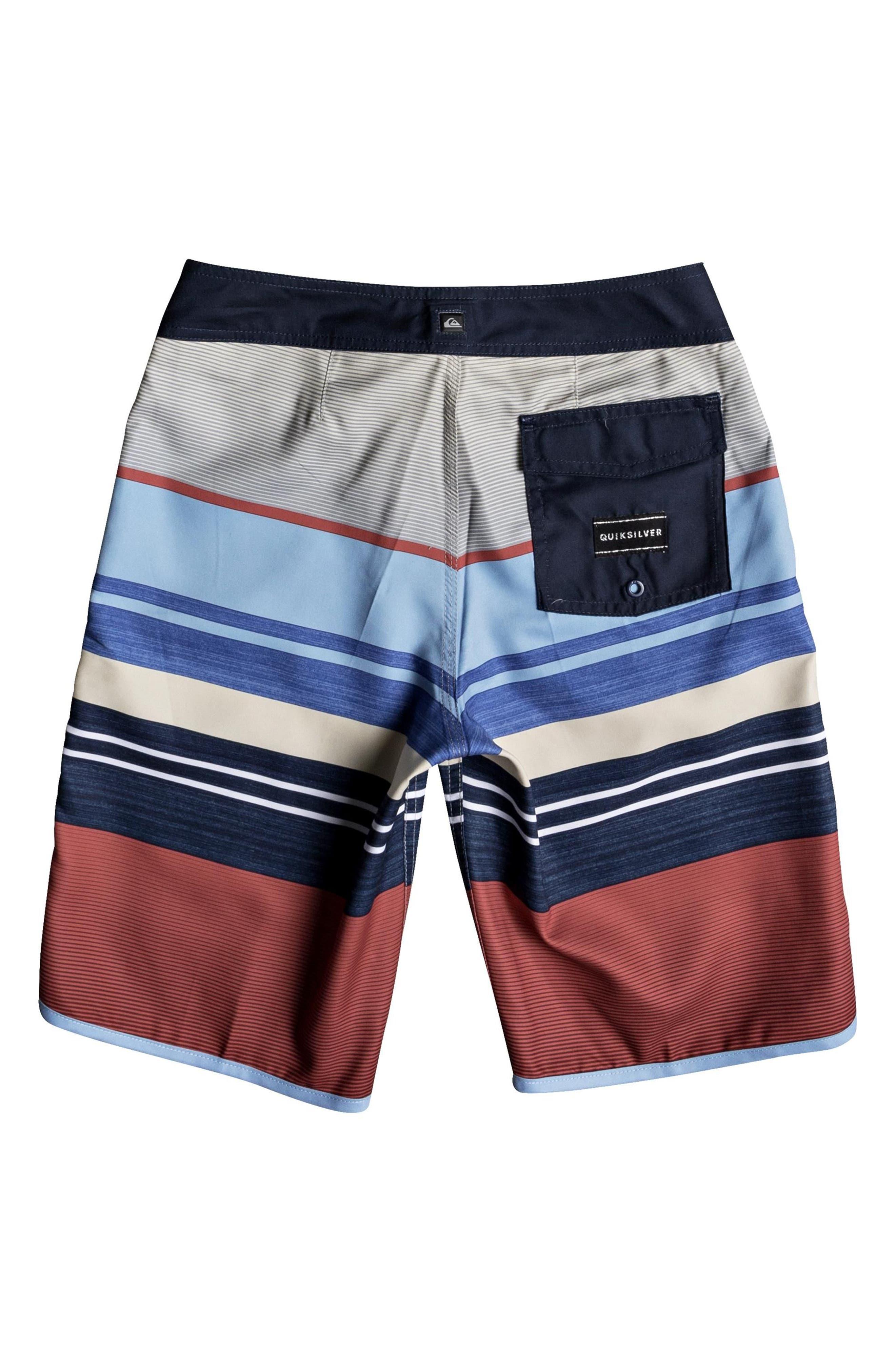 Eye Scalloped Board Shorts,                             Alternate thumbnail 4, color,