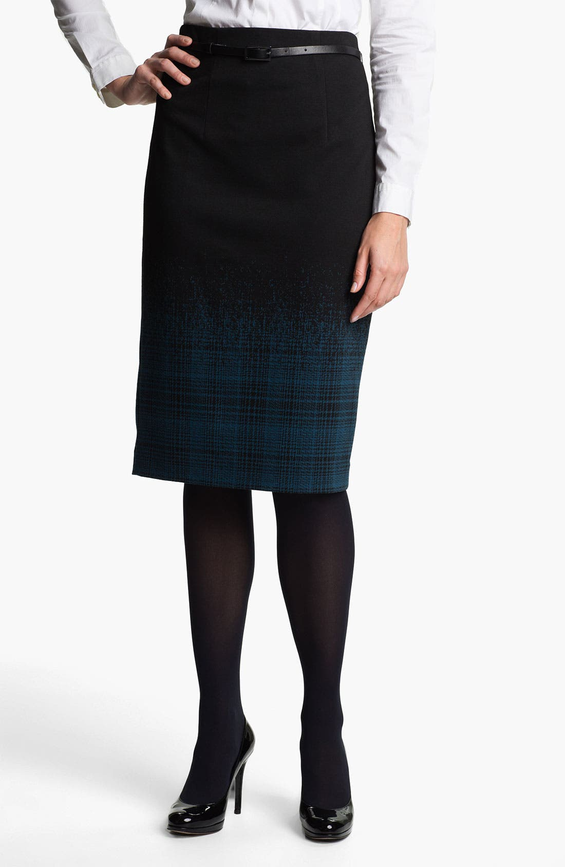 Belted Ponte Skirt,                             Main thumbnail 7, color,