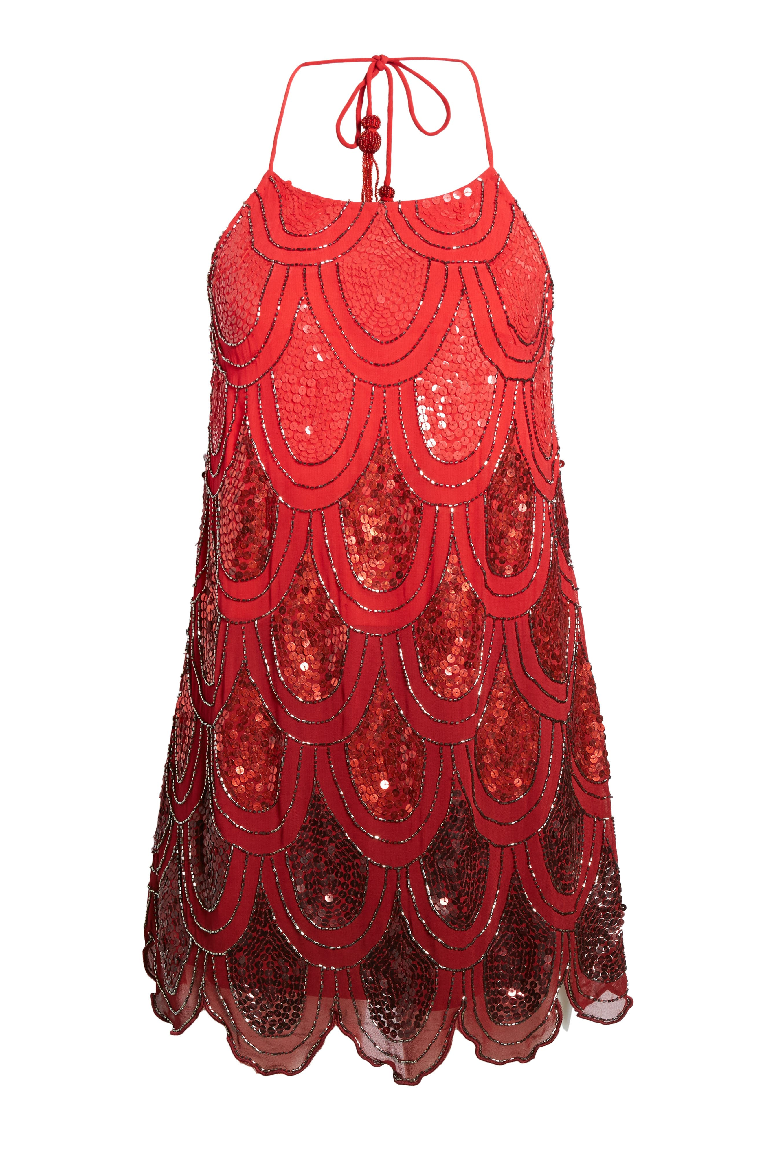 Dame Sequin Minidress,                             Alternate thumbnail 6, color,                             600