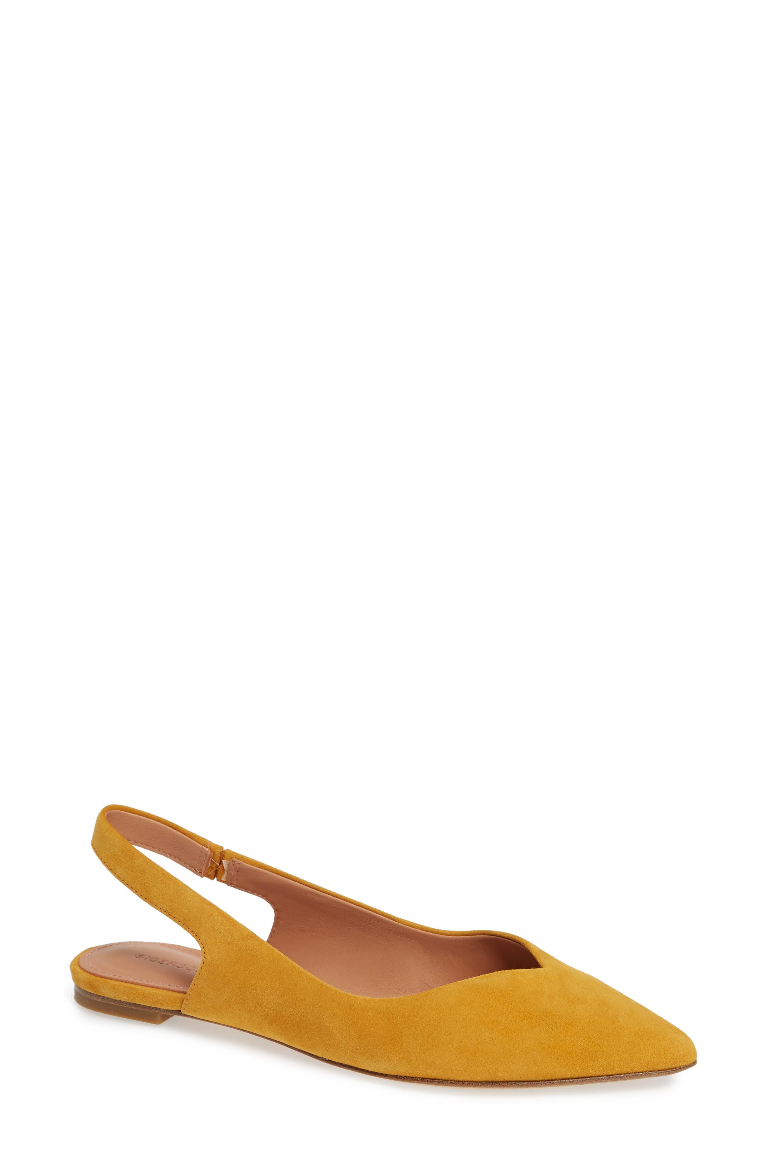 Women'S Sunshine Slingback Pointed-Toe Flats in Sunflower