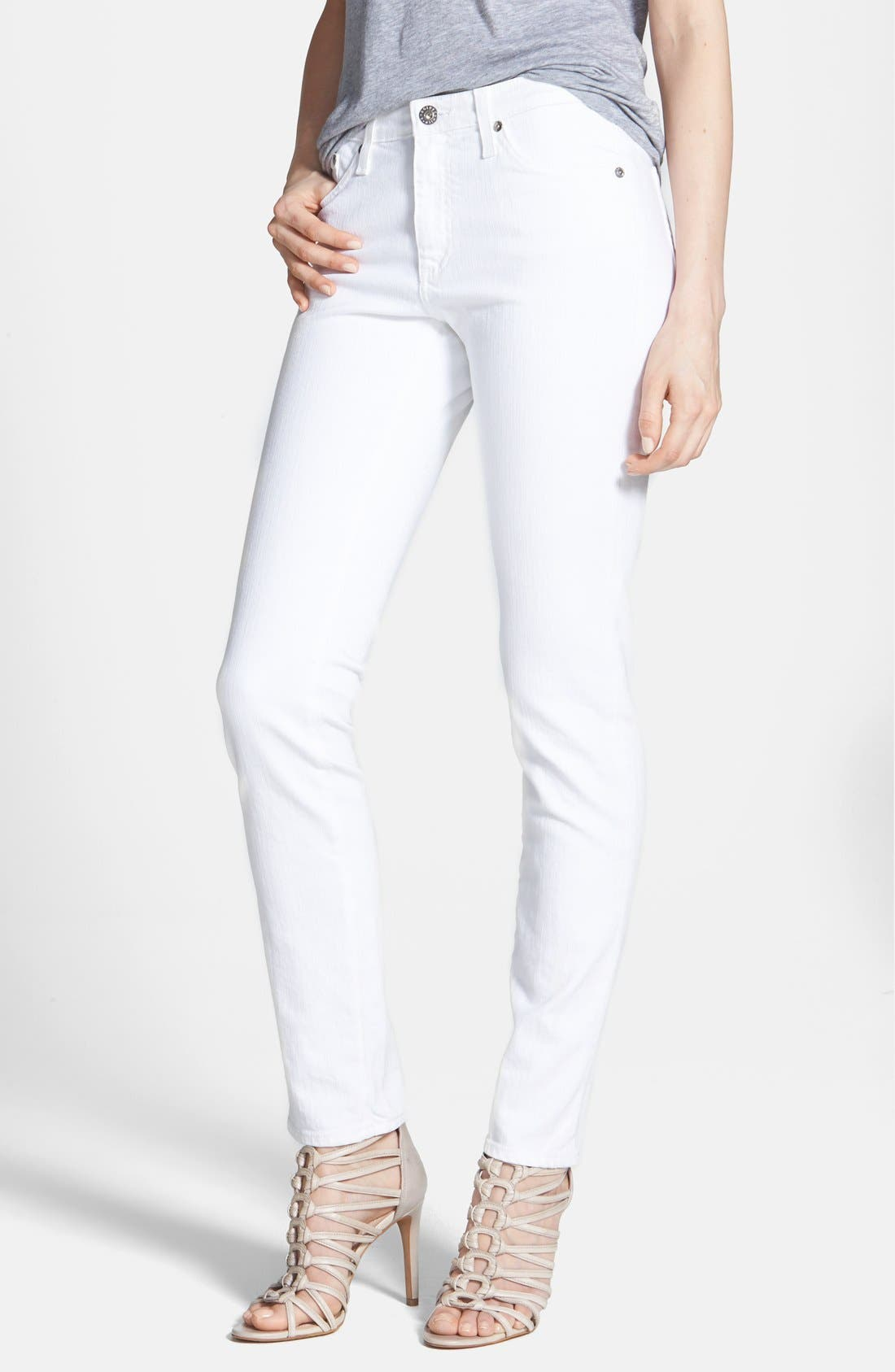 AG 'The Prima' Mid Rise Cigarette Jeans, Main, color, 110